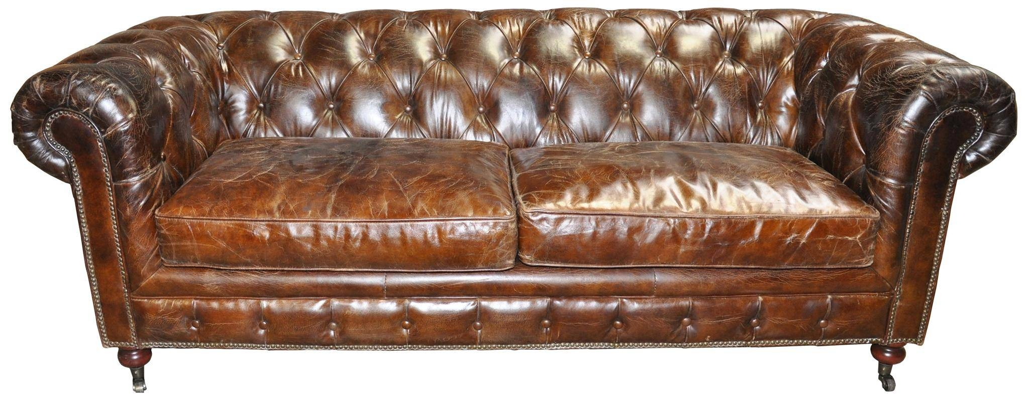 Tufted Leather Sofa | Roselawnlutheran regarding Brown Tufted Sofas (Image 15 of 15)
