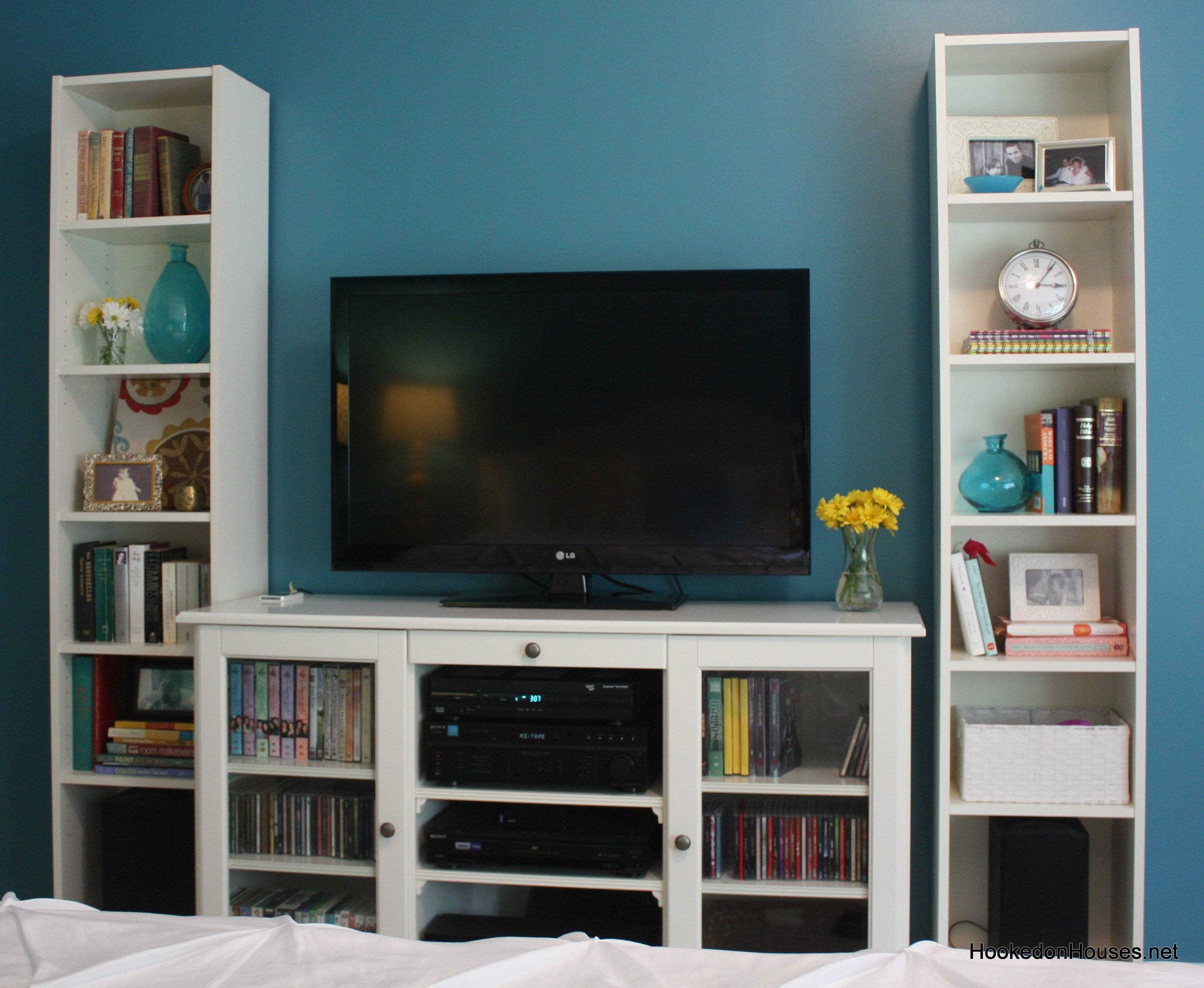 Tv Cabinet And Bookshelves - Hooked On Houses with regard to Bookshelf Tv Stands Combo (Image 5 of 15)