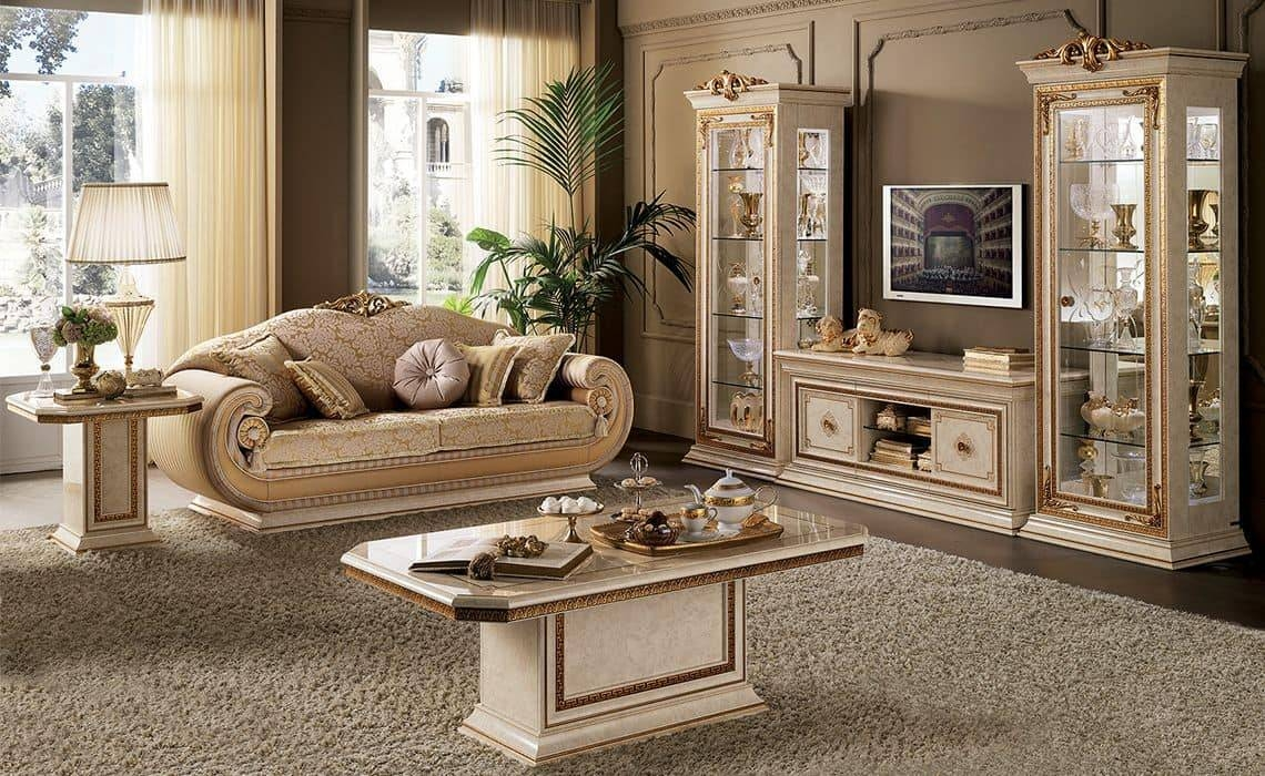 Tv Cabinet For Classic Living Room In Classic Style | Idfdesign Within Classic Tv Cabinets (View 15 of 15)