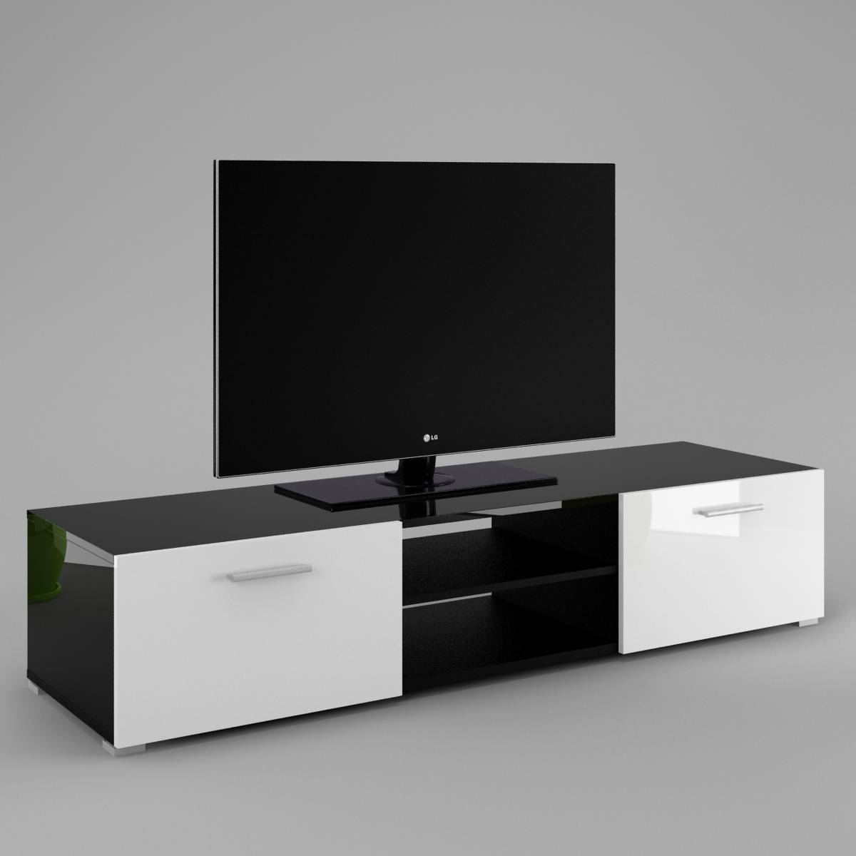 Tv Cabinet Luna - Labi Furniturelabi Furniture for High Gloss White Tv Cabinets (Image 12 of 15)