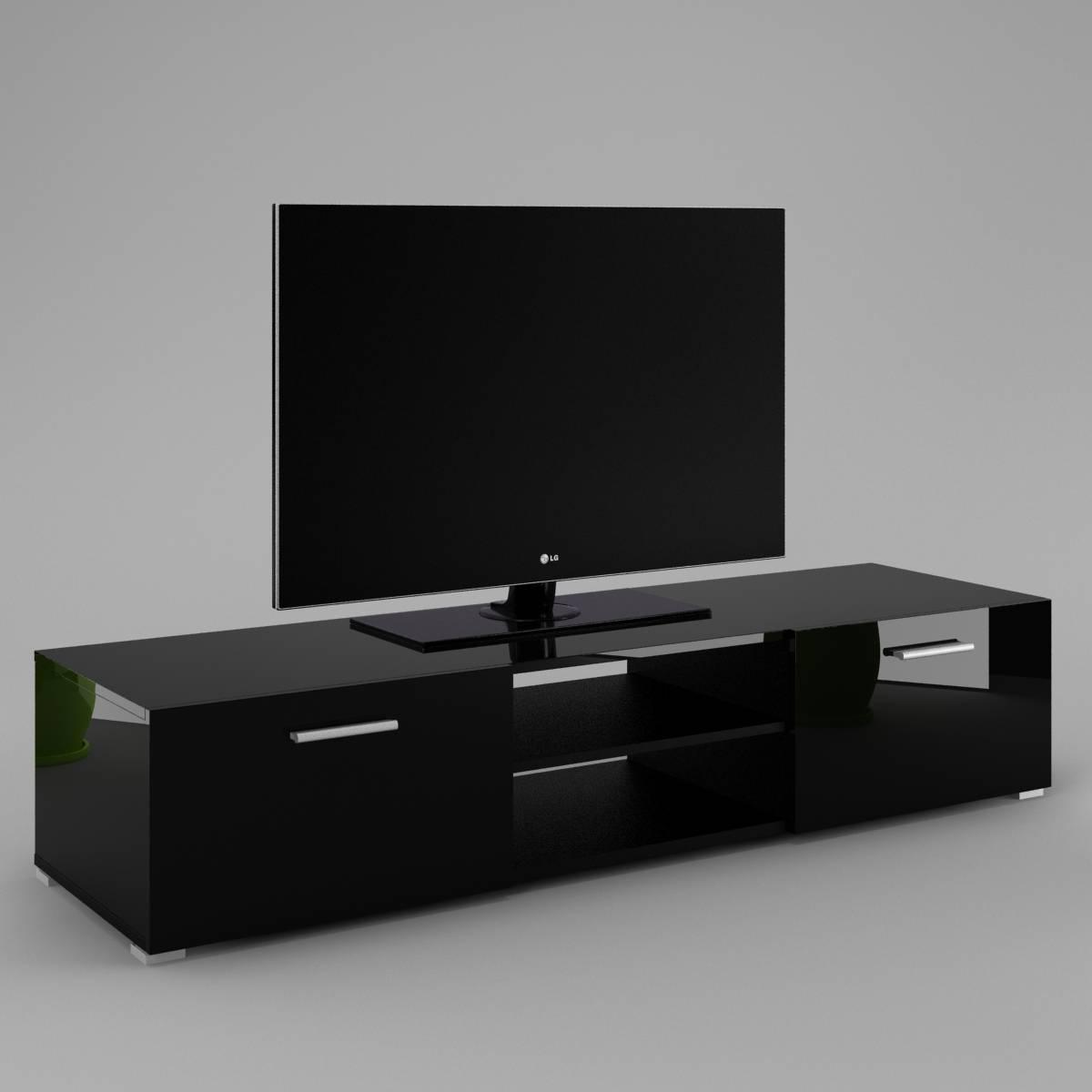 Tv Cabinet Luna - Labi Furniturelabi Furniture with regard to Black High Gloss Corner Tv Unit (Image 11 of 15)
