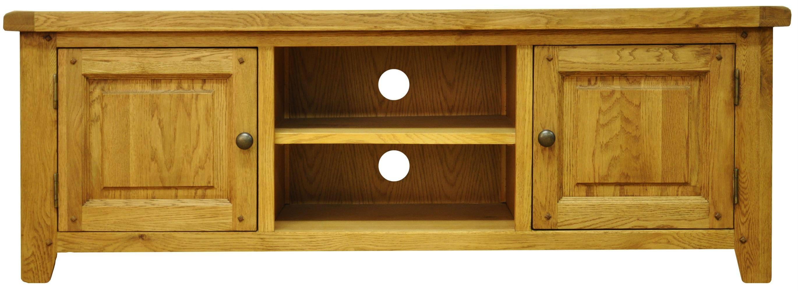 Tv Cabinets : Stanton Large Tv Unitstanton Large Tv Unit pertaining to Oak Tv Cabinets With Doors (Image 14 of 15)