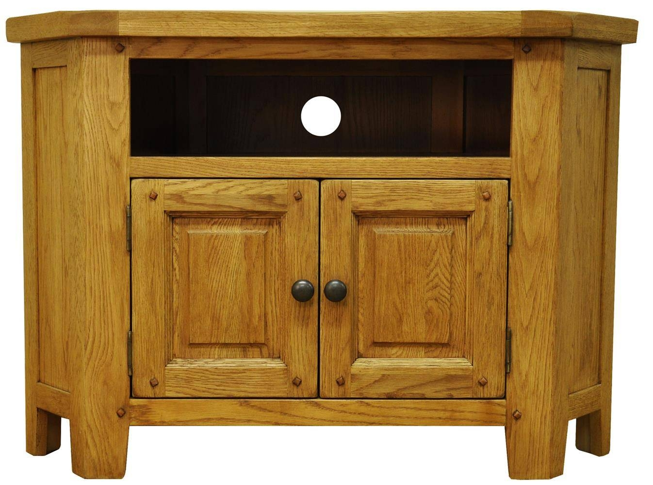 Tv Cabinets : Stanton Rustic Oak Corner Tv Unitstanton Rustic Oak pertaining to Corner Wooden Tv Cabinets (Image 13 of 15)
