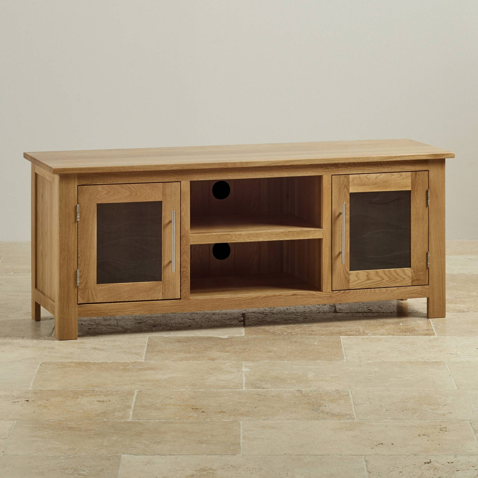 Tv Cabinets & Units | 100% Solid Oak | Oak Furniture Land With Regard To Maple Tv Cabinets (View 4 of 15)