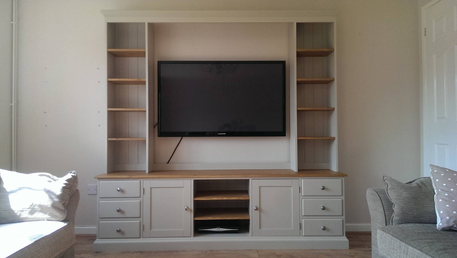 Tv / Entertainment Unit - Pine, Oak, Painted And Bespoke Furniture regarding Tv Entertainment Unit (Image 9 of 15)
