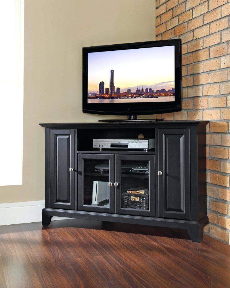 Tv Stand : 19 Corner Tv Stand Impressive Corner Tv Stand Small in Black Wood Corner Tv Stands (Image 13 of 15)