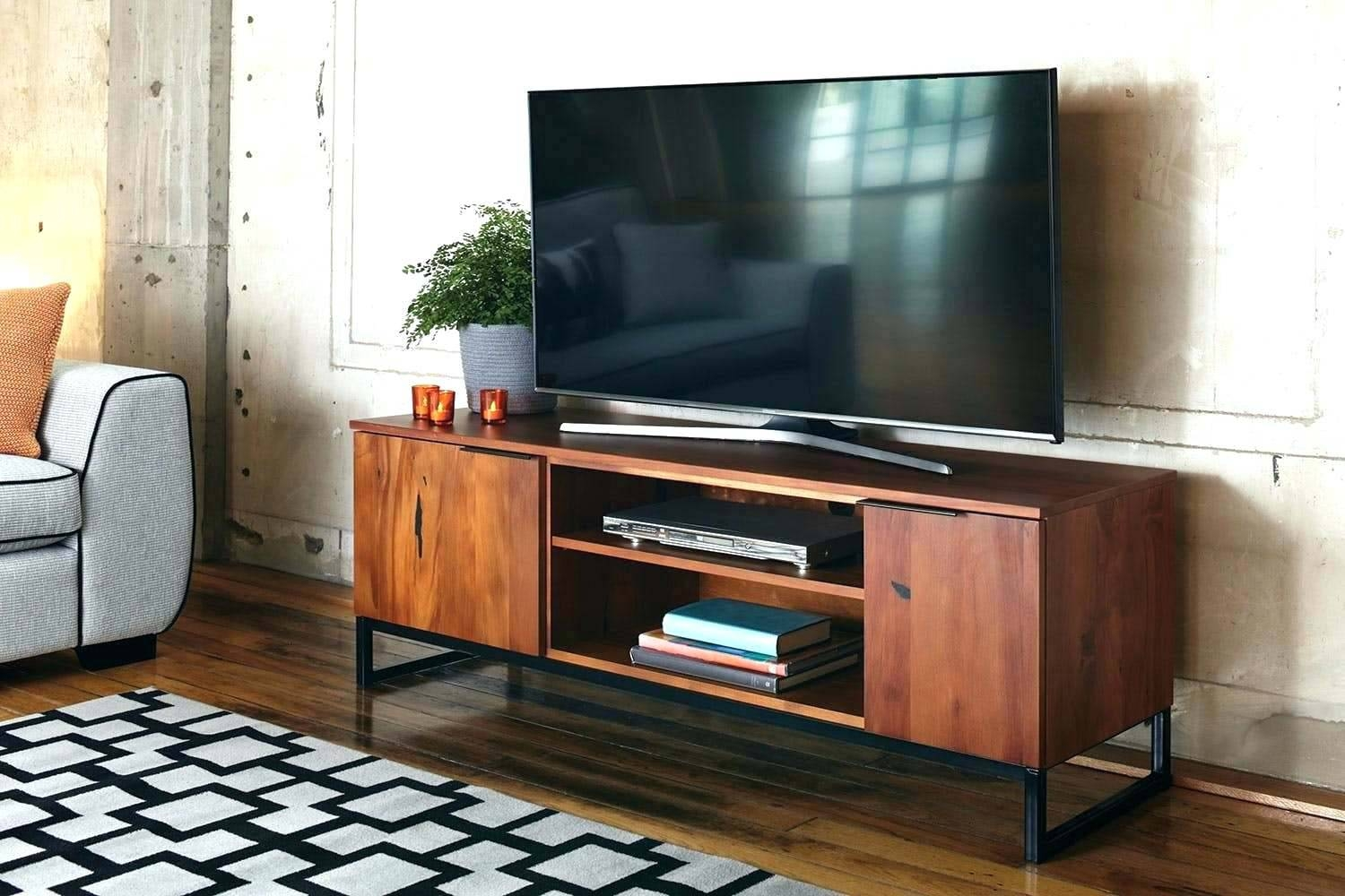 Tv Stand : 25 Chic Vertica Oak Low Contemporary Tv Stand Back in Honey Oak Tv Stands (Image 8 of 15)