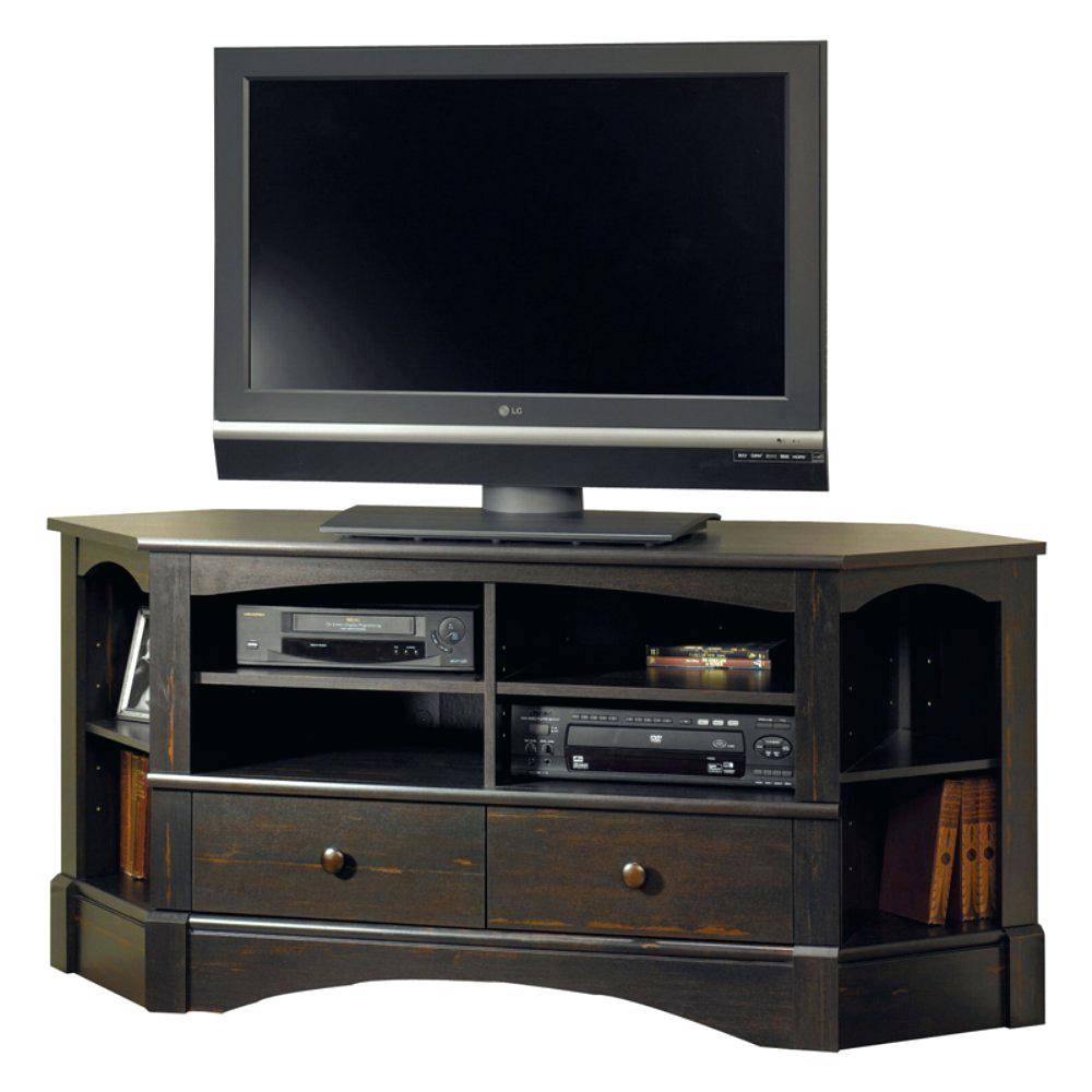 Tv Stand : 26 Modern Tv Stand Compact Brown Wooden Corner Tv Stand regarding Triangular Tv Stands (Image 13 of 15)