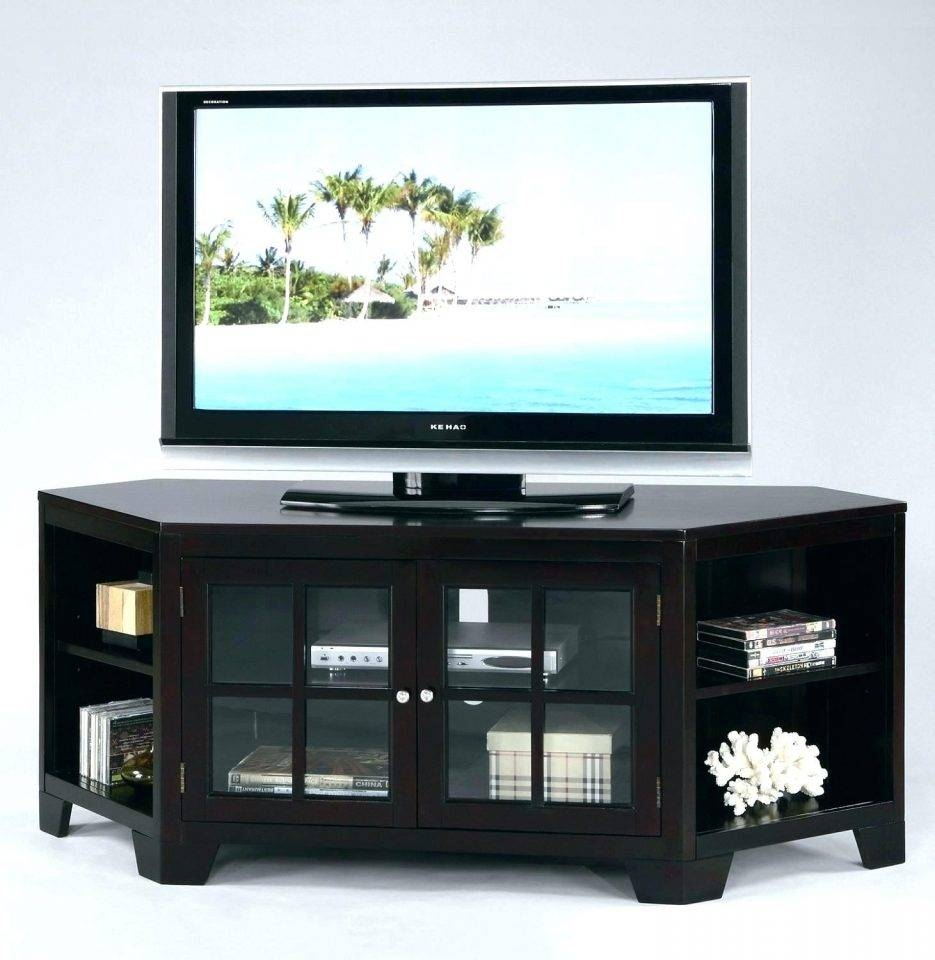 Tv Stand : 44 Compact Corner Tv Cabinet Superb Z Oak Corner Tv Throughout Skinny Tv Stands (View 10 of 15)