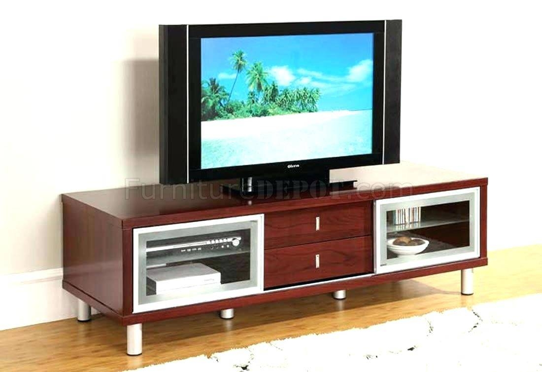 Tv Stand : 55 Contemporary Flat Panel Glass Tv Stand In Natural regarding Modern Glass Tv Stands (Image 9 of 15)