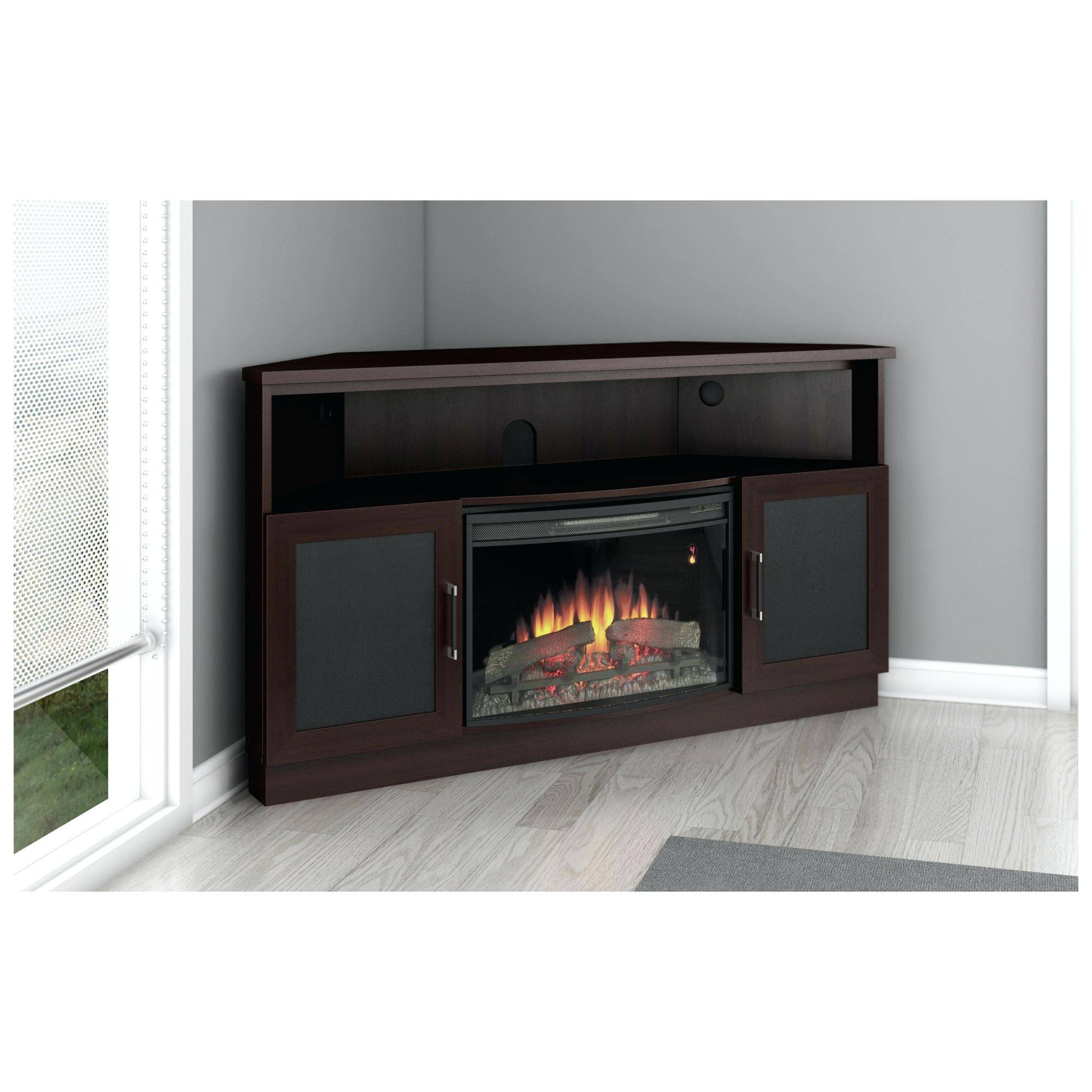 Tv Stand : 78 Black Corner Tv Stand With Fireplace Fireplace regarding Contemporary Corner Tv Stands (Image 12 of 15)