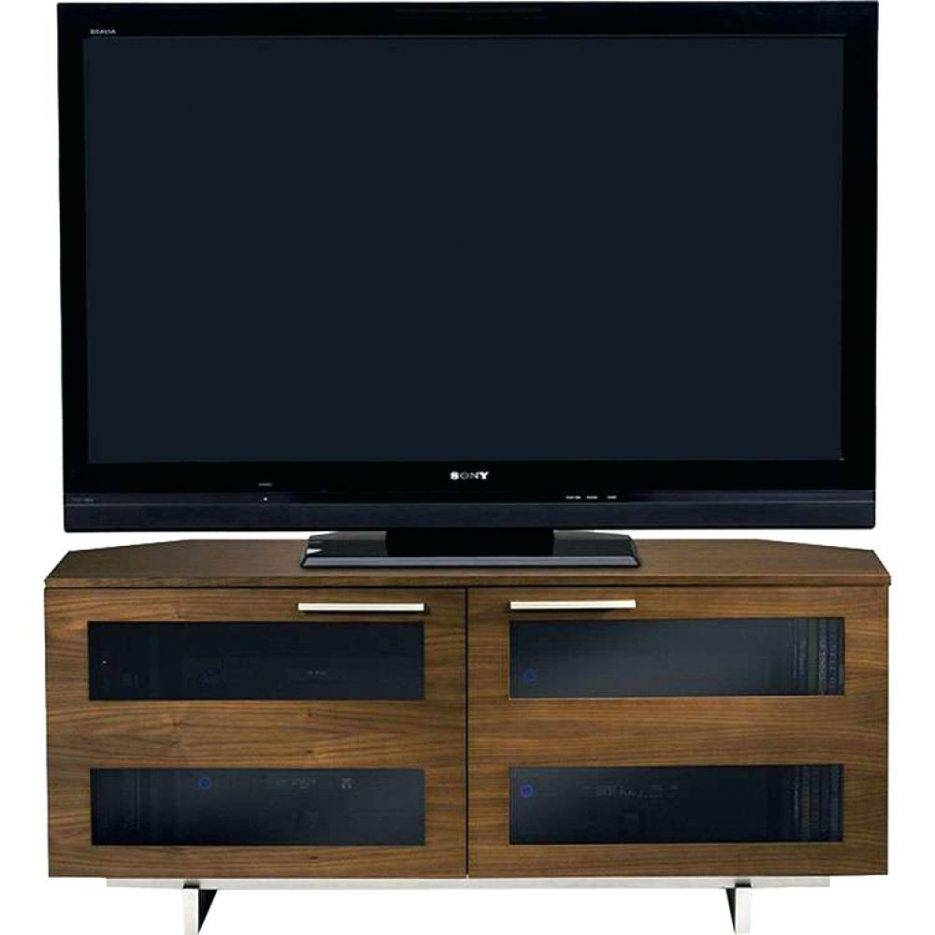 Tv Stand : 96 Cool Ola Curved Tv Standbdi In Chocolate Ola Intended For Walnut Corner Tv Stands (View 14 of 15)
