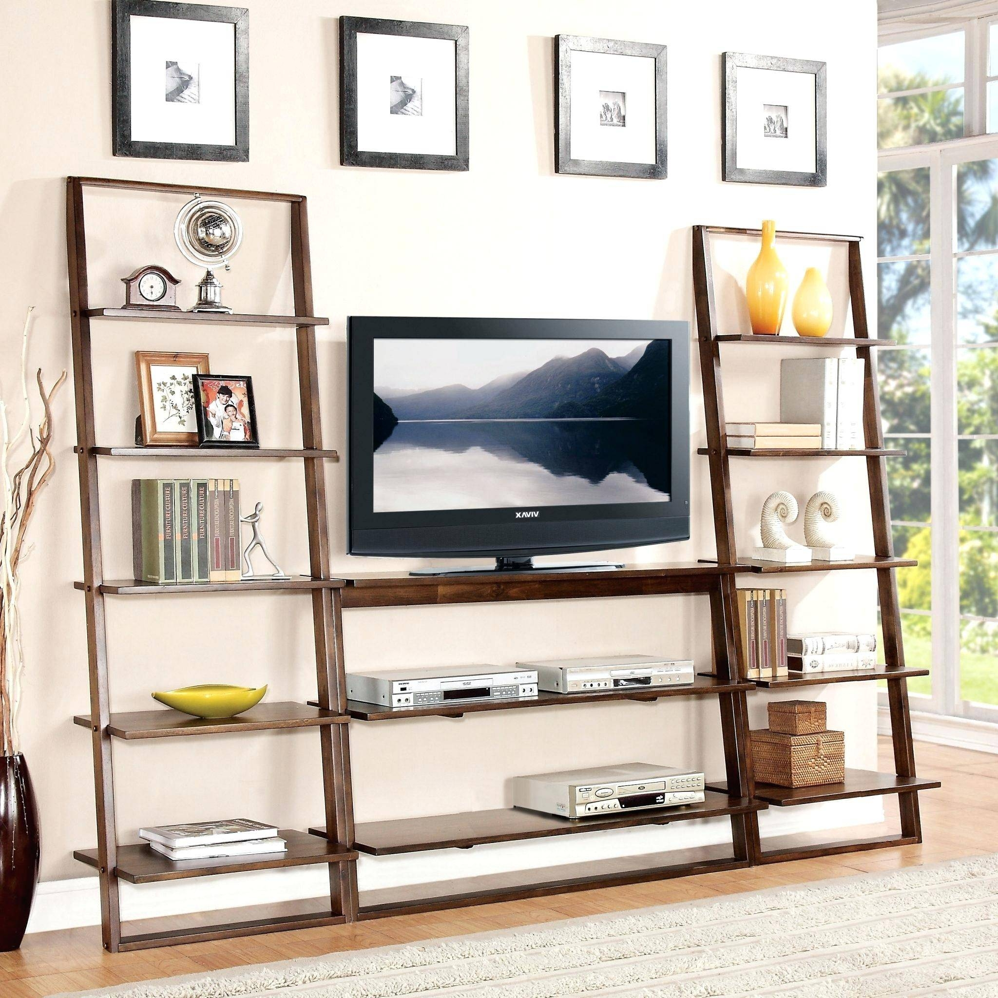 Tv Stand : 96 Flat Screen Tv Stand With Bookshelves Full Size Tv pertaining to Bookshelf Tv Stands Combo (Image 7 of 15)