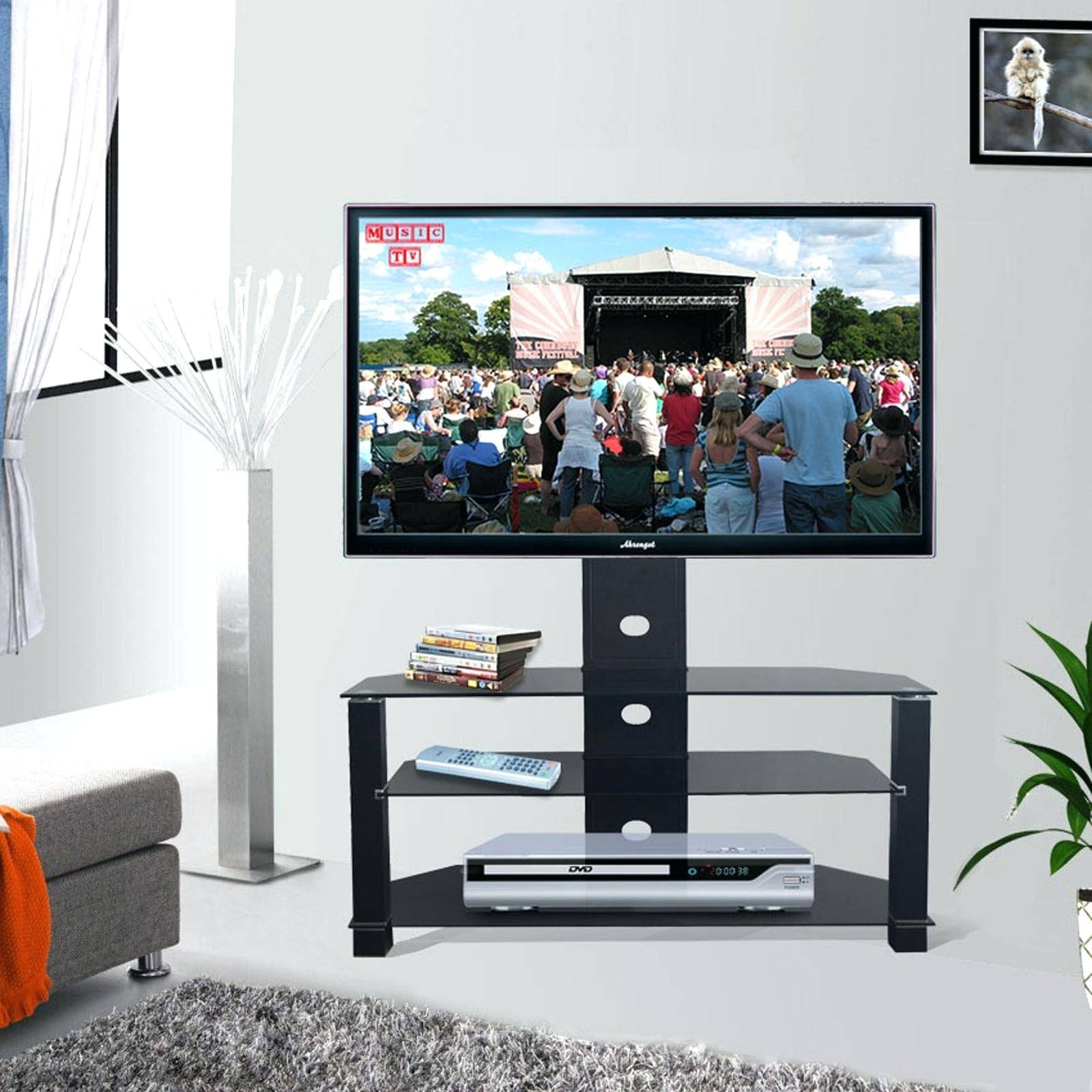 Tv Stand : Aliexpresscom Buy Black Articulating Adjustable Swivel regarding Tv Stands Swivel Mount (Image 7 of 15)