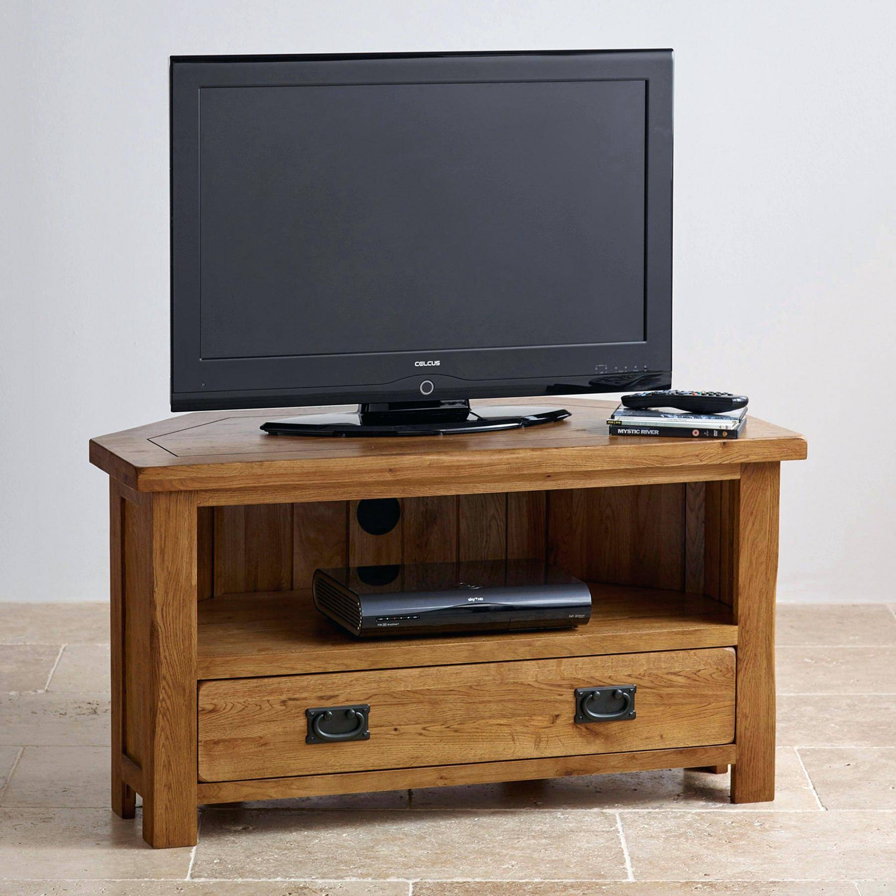 Tv Stand : Amazing 42 Plasma Tv Wall Mounted In The Corner Of The for Tv Stands With Rounded Corners (Image 5 of 15)