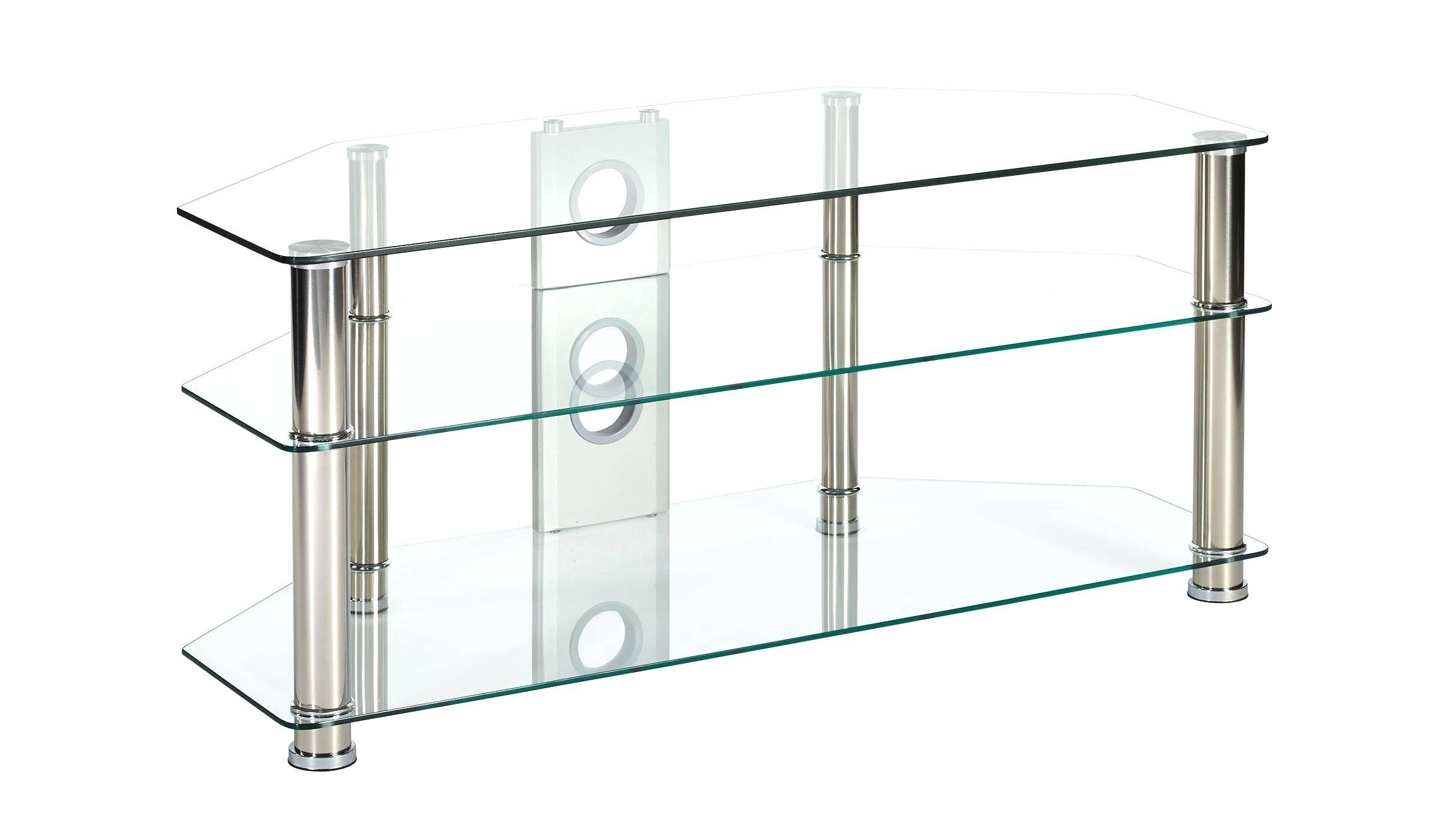 Tv Stand : Black And White Glass Tv Stand Compact Modern White inside Clear Glass Tv Stand (Image 13 of 15)