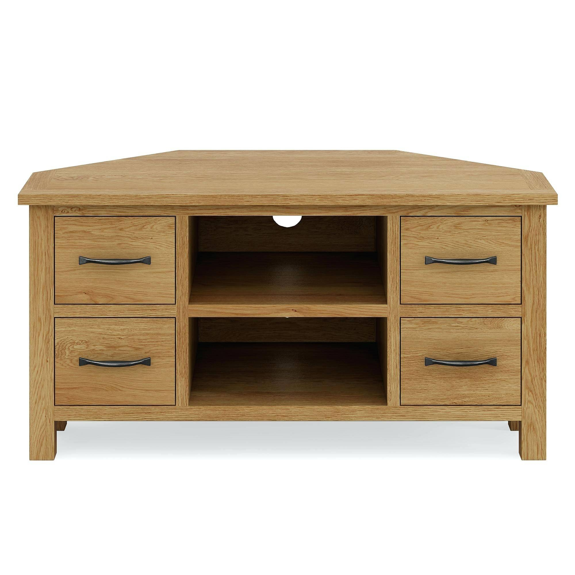 Tv Stand ~ Bordeaux Oak Corner Tv Stand Solid Oak Corner Tv Stands throughout Oak Effect Corner Tv Stand (Image 12 of 15)