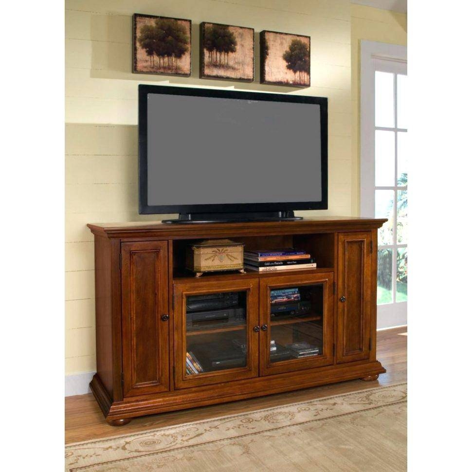 Tv Stand : Bright Country Style Tv Stand Unit Idea In Honey Oak for French Country Tv Stands (Image 10 of 15)