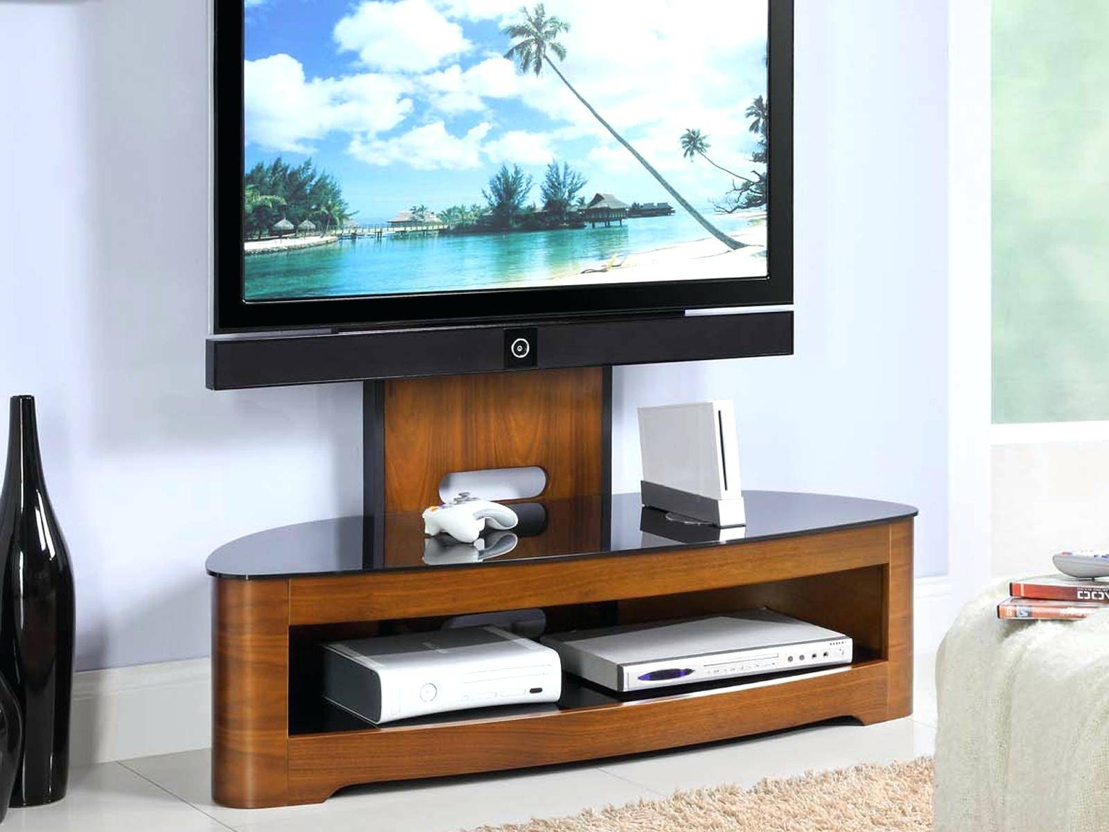 Tv Stand: Charming Corner Wooden Tv Stand For Home Space. Tv Stand with Unique Corner Tv Stands (Image 9 of 15)