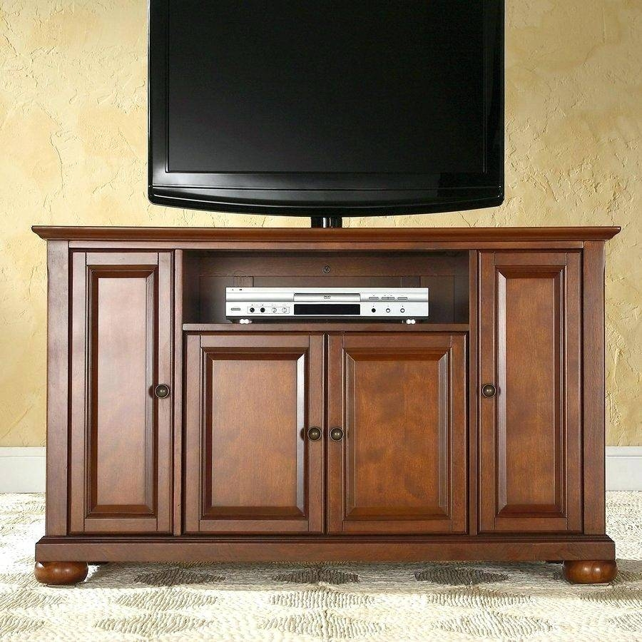 Tv Stand : Cherry Wood Corner Tv Stands Flat Screens Impressive Inside Corner Tv Cabinets For Flat Screens With Doors (View 12 of 15)
