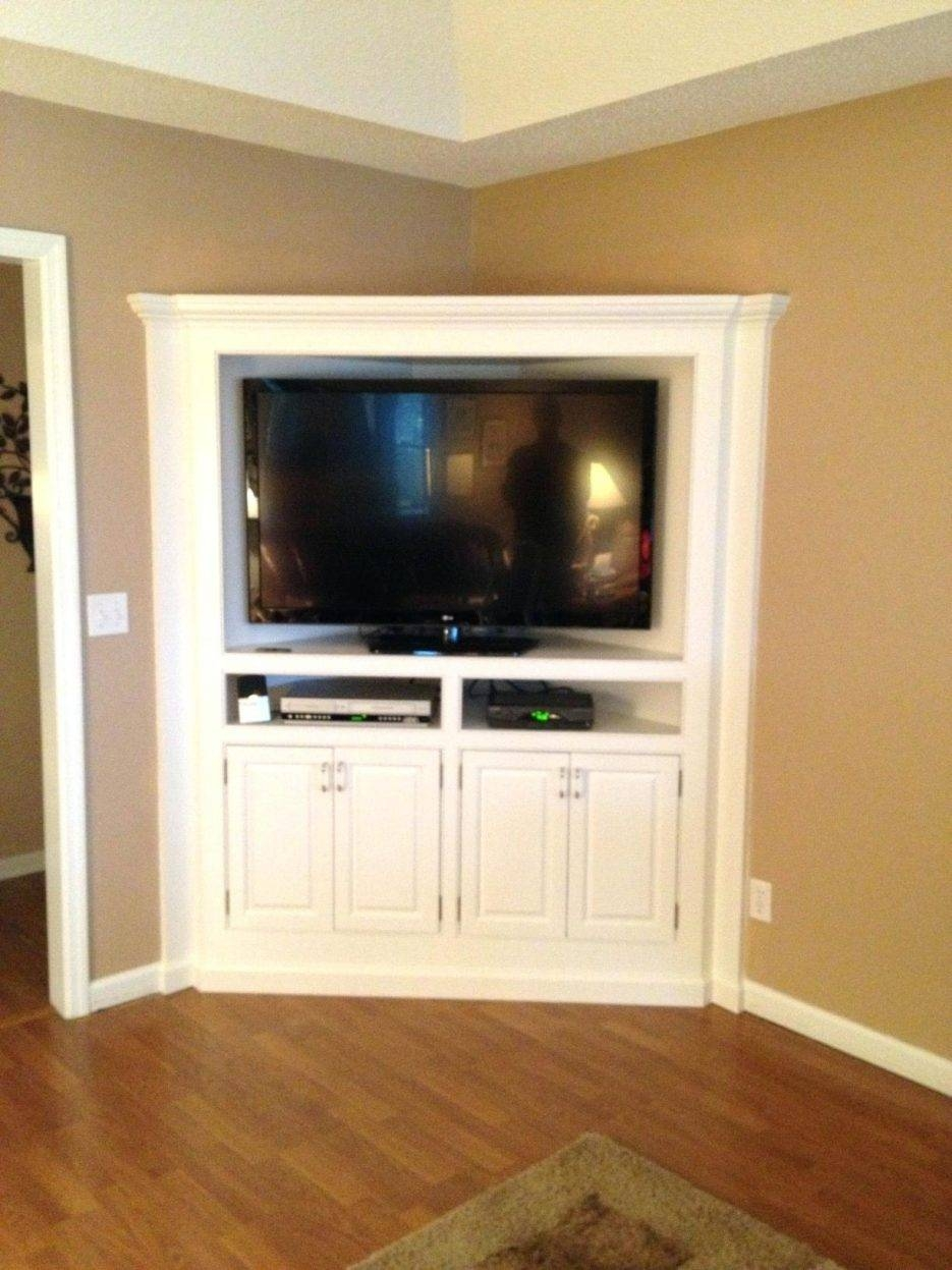 Tv Stand : Chic Built In Corner Tv Cabinet Counter Refinished With Regard To Corner Tv Cabinets (View 13 of 15)