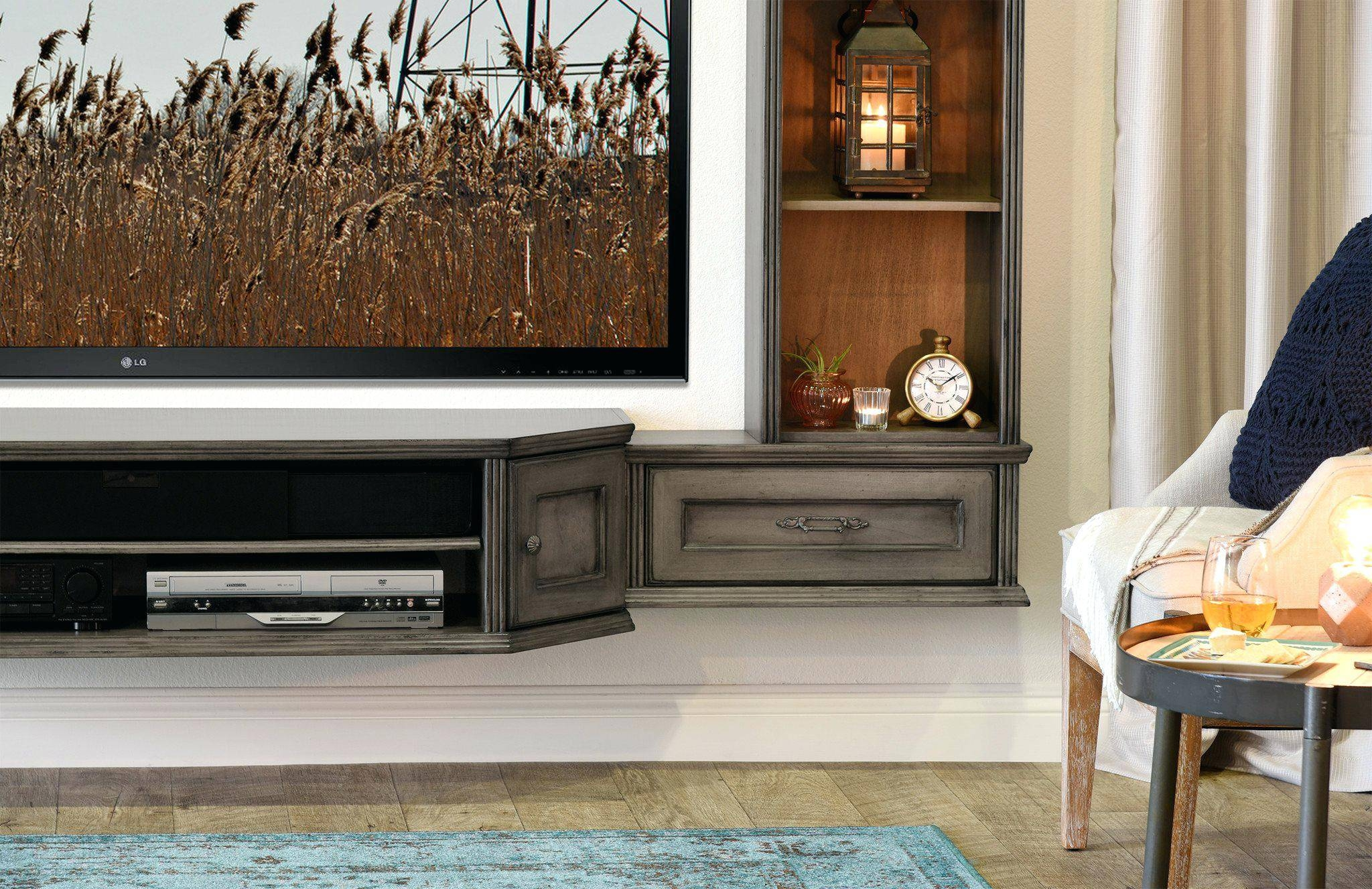 Tv Stand: Chic Vintage Style Tv Stand Images. Retro Style Tv Throughout Vintage  Style