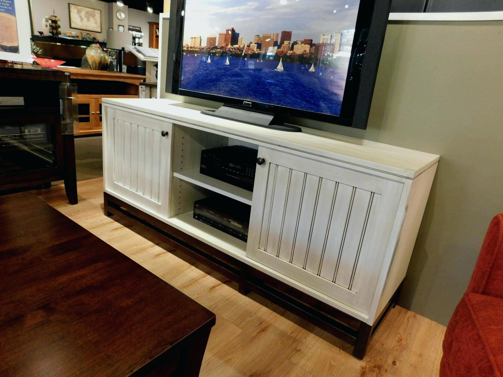 Tv Stand : Compact Hemlock And Wormy Maple Tv Stand Contemporary with regard to Maple Wood Tv Stands (Image 6 of 15)