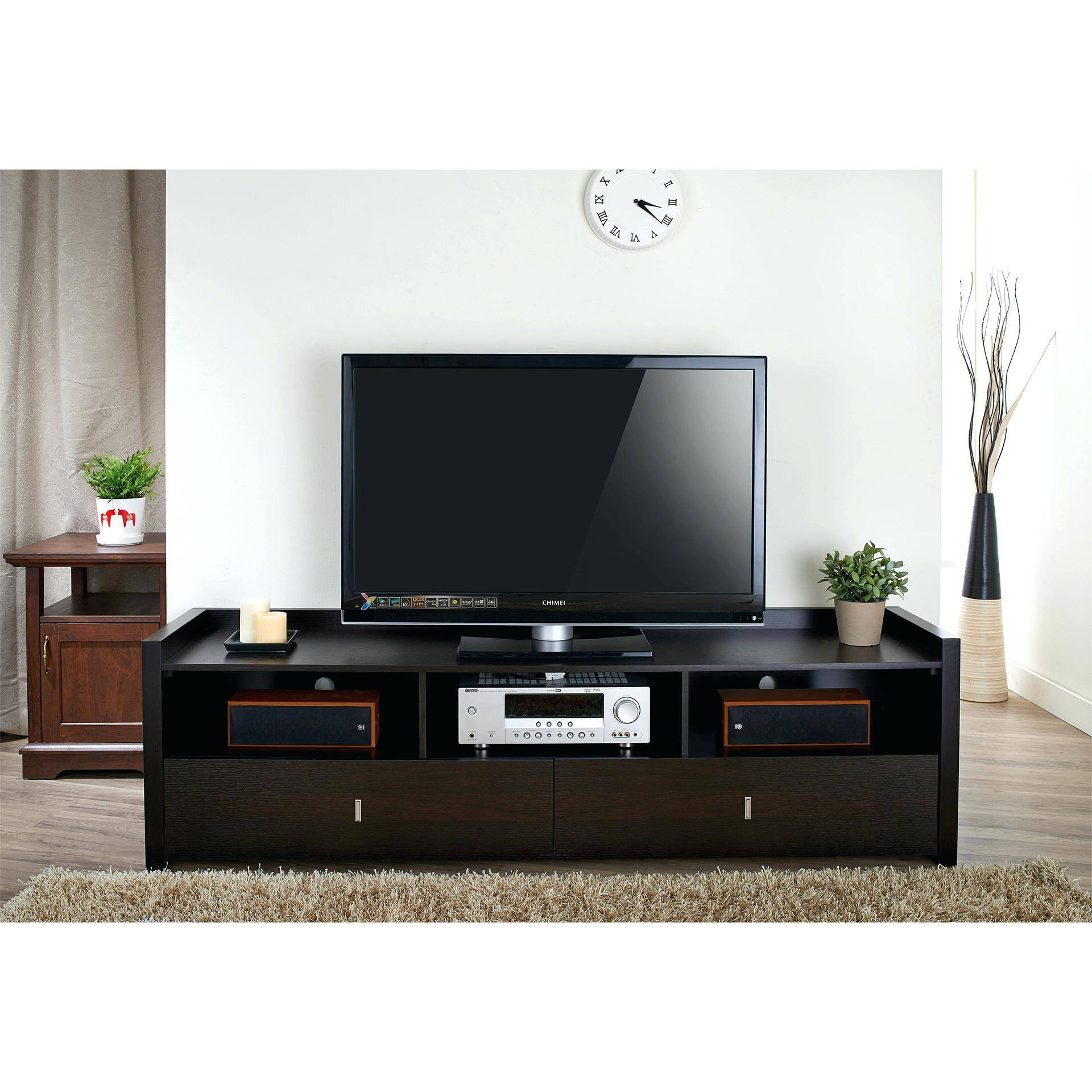 Tv Stand : Cool Brusali Tv Unit White Width 47 1 4 Depth 14 1 With Shiny Black Tv Stands (View 11 of 15)