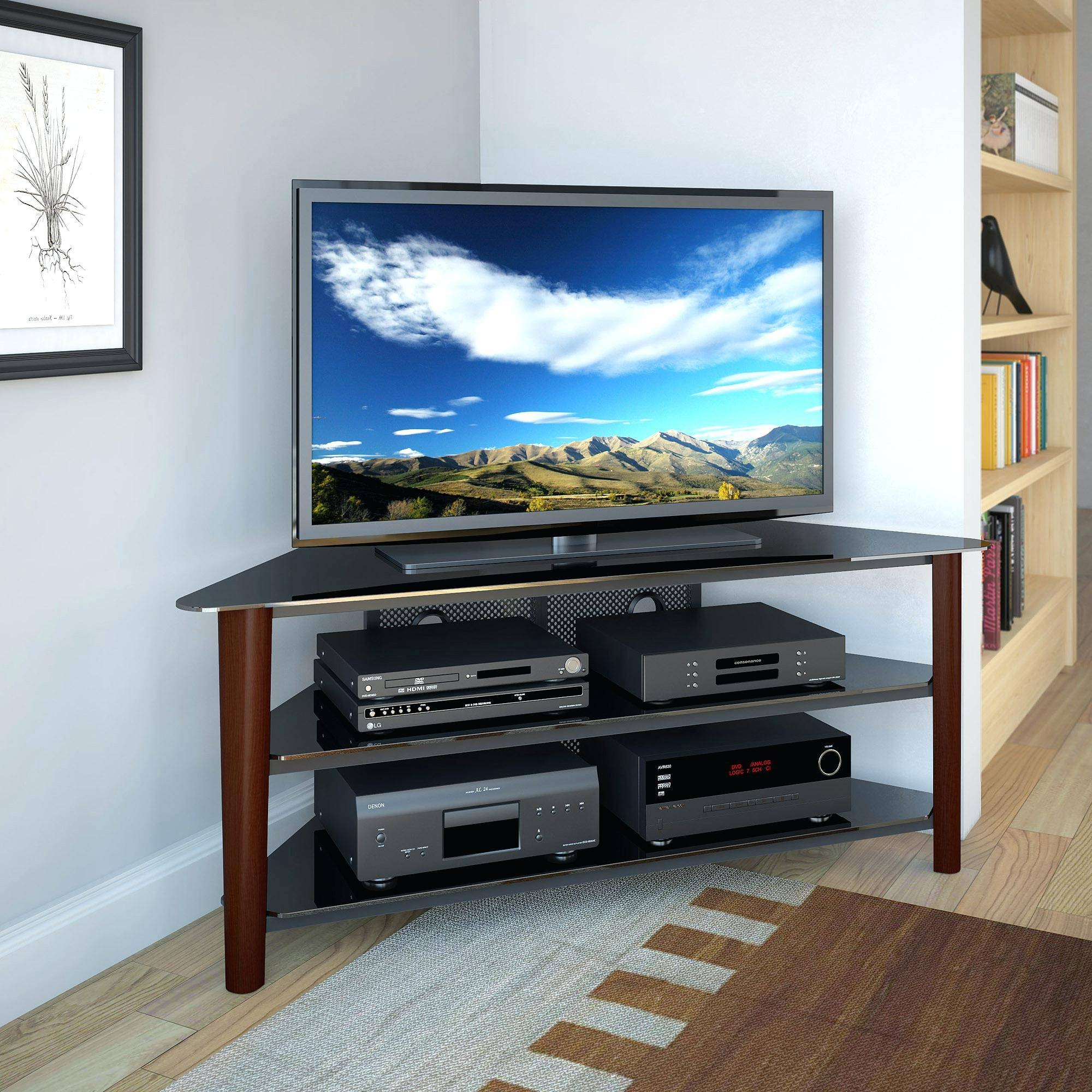 Tv Stand : Corner Tv Console 55 Inch Corner Tv Stand Flat Screen Inside Trendy Tv Stands (View 3 of 15)