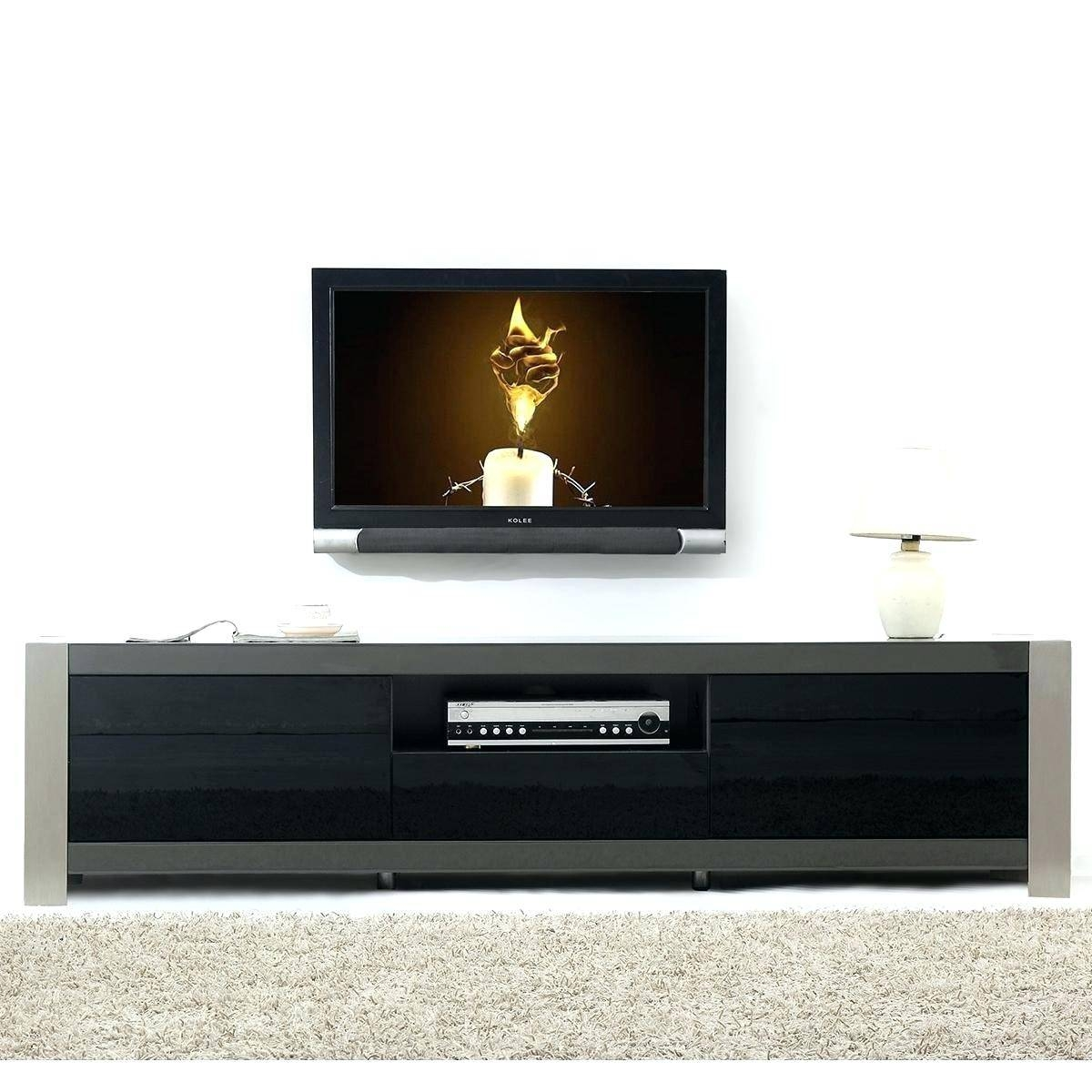 Tv Stand : Cozy Contemporary Black High Gloss Tv Stand within Modern Glass Tv Stands (Image 12 of 15)