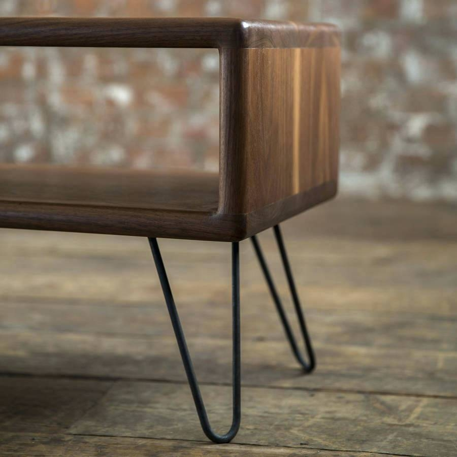Tv Stand: Fascinating Danish Modern Tv Stand For Living Room. Mid throughout Hairpin Leg Tv Stands (Image 13 of 15)