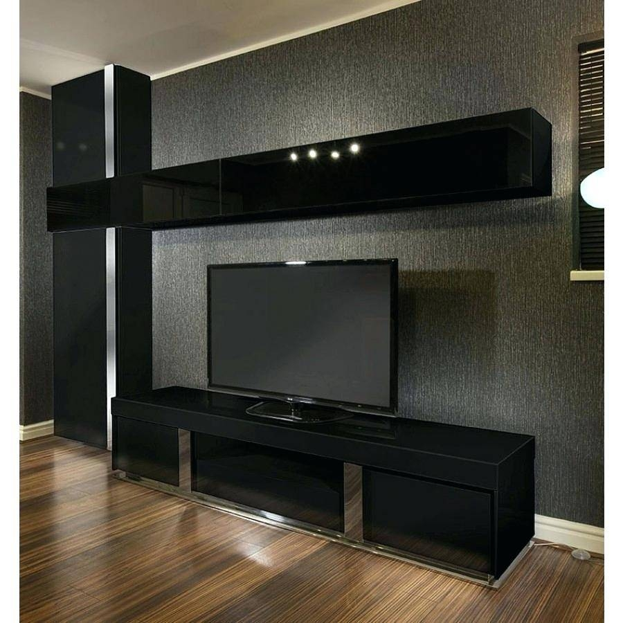 Tv Stand : Full Size Of Living Roomblack Tv Stand With Fireplace Throughout Large Black Tv Unit (View 2 of 15)