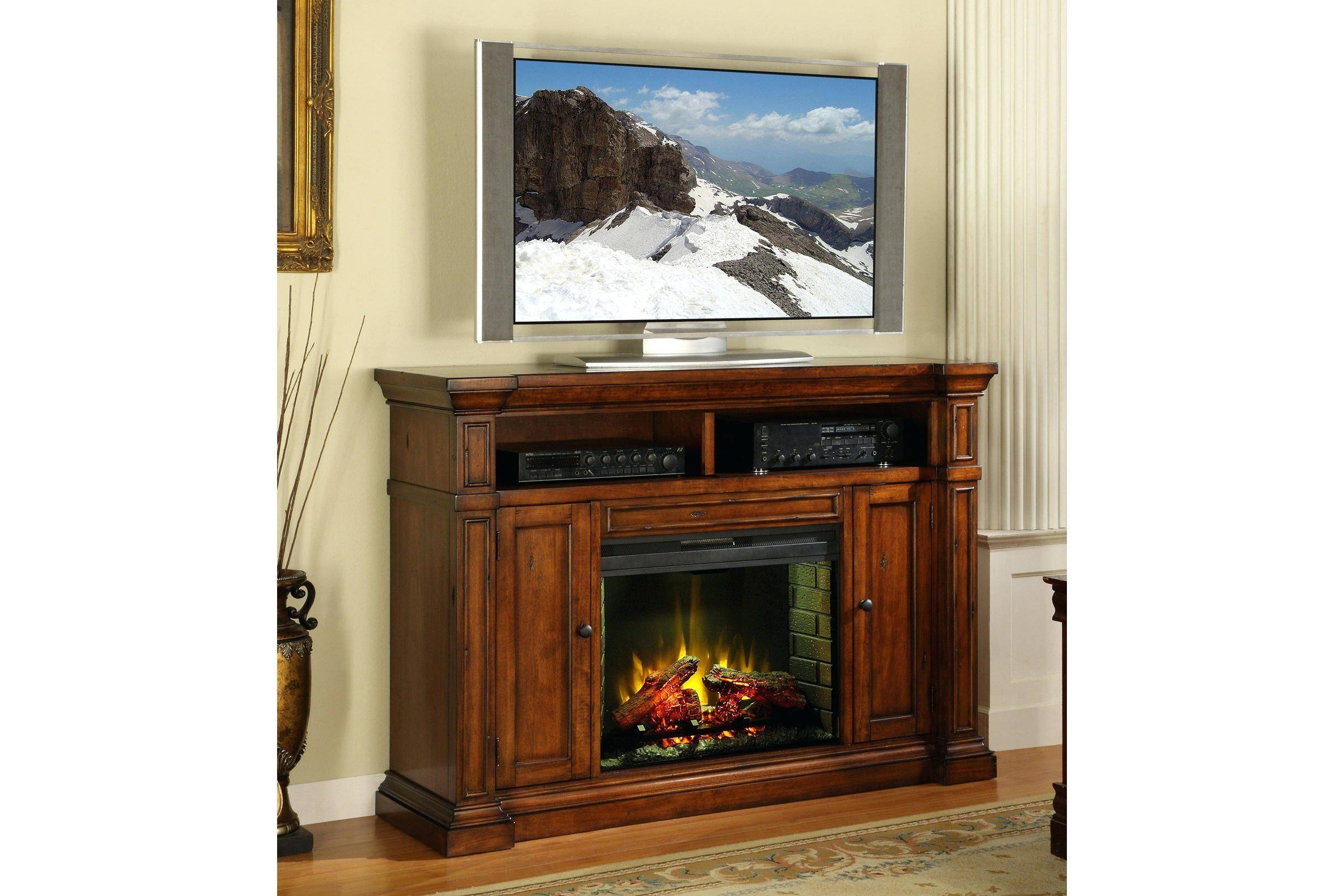 Tv Stand : Furniture Ideas Shaker Corner Tv Stand With Dvd Opening pertaining to Maple Tv Stands For Flat Screens (Image 11 of 15)