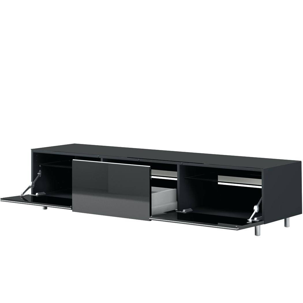 Top 15 Of Shiny Black Tv Stands