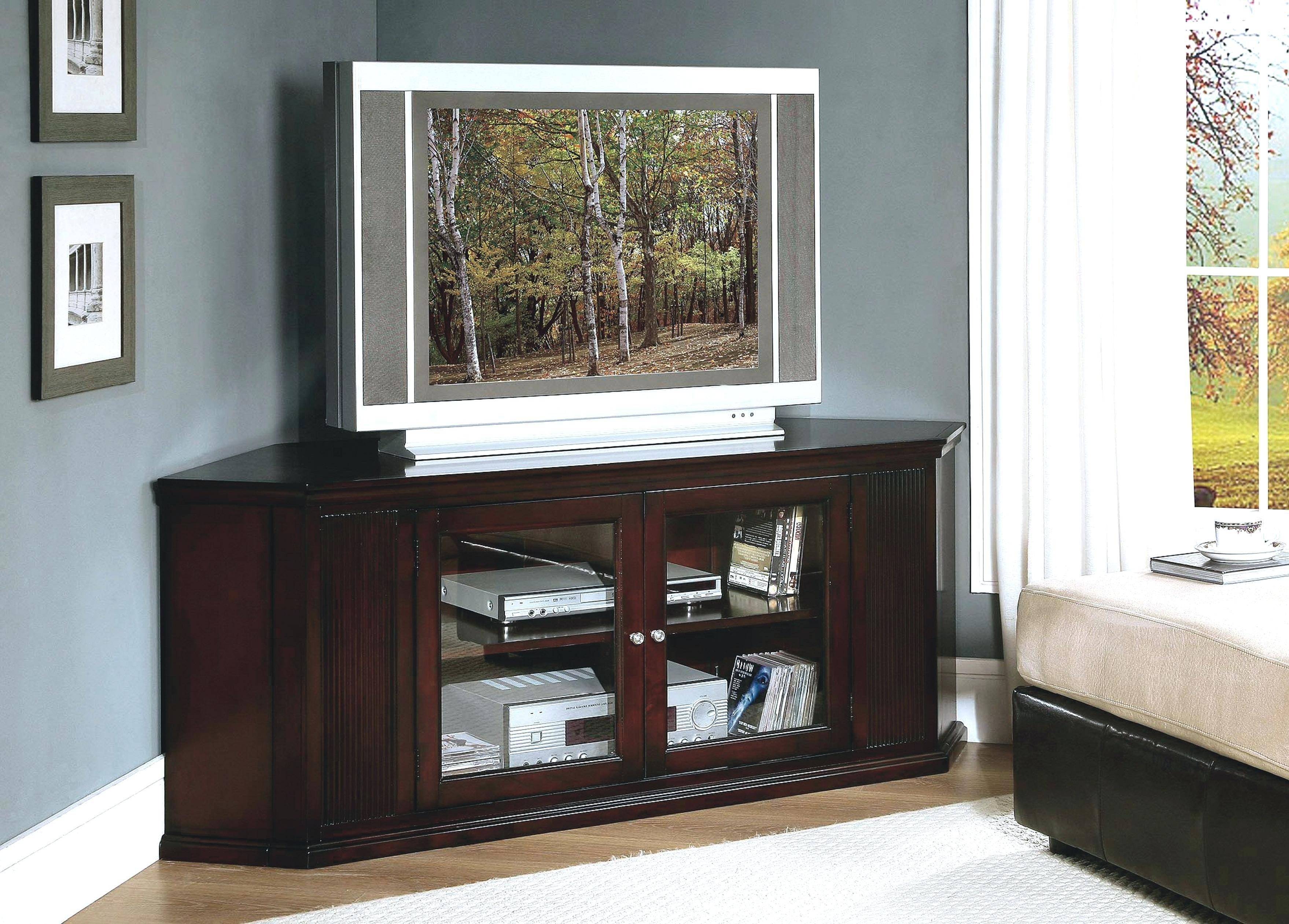 Tv Stand : Gorgeous Oak Gallery Picture Fascinating Tall Corner Tv For Corner Tv Cabinets For Flat Screens With Doors (View 13 of 15)