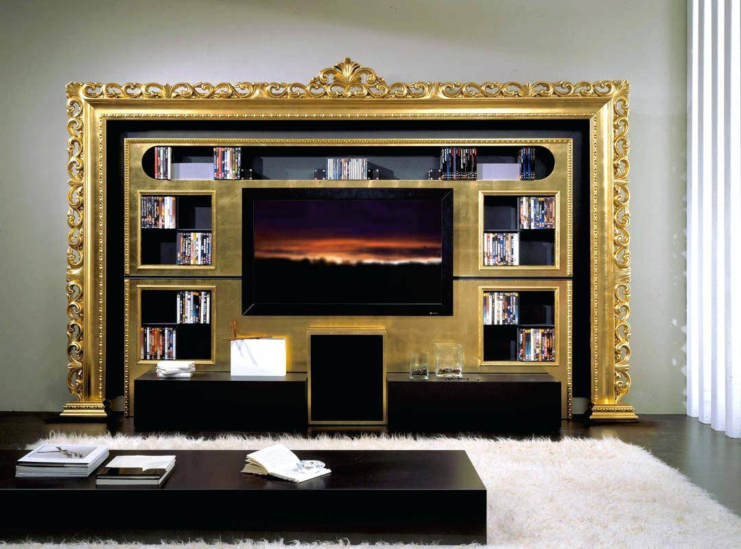 Tv Stand : Hide The Pantry Behind Integrated Cabinet Doors Throughout Gold Tv Cabinets (View 4 of 15)