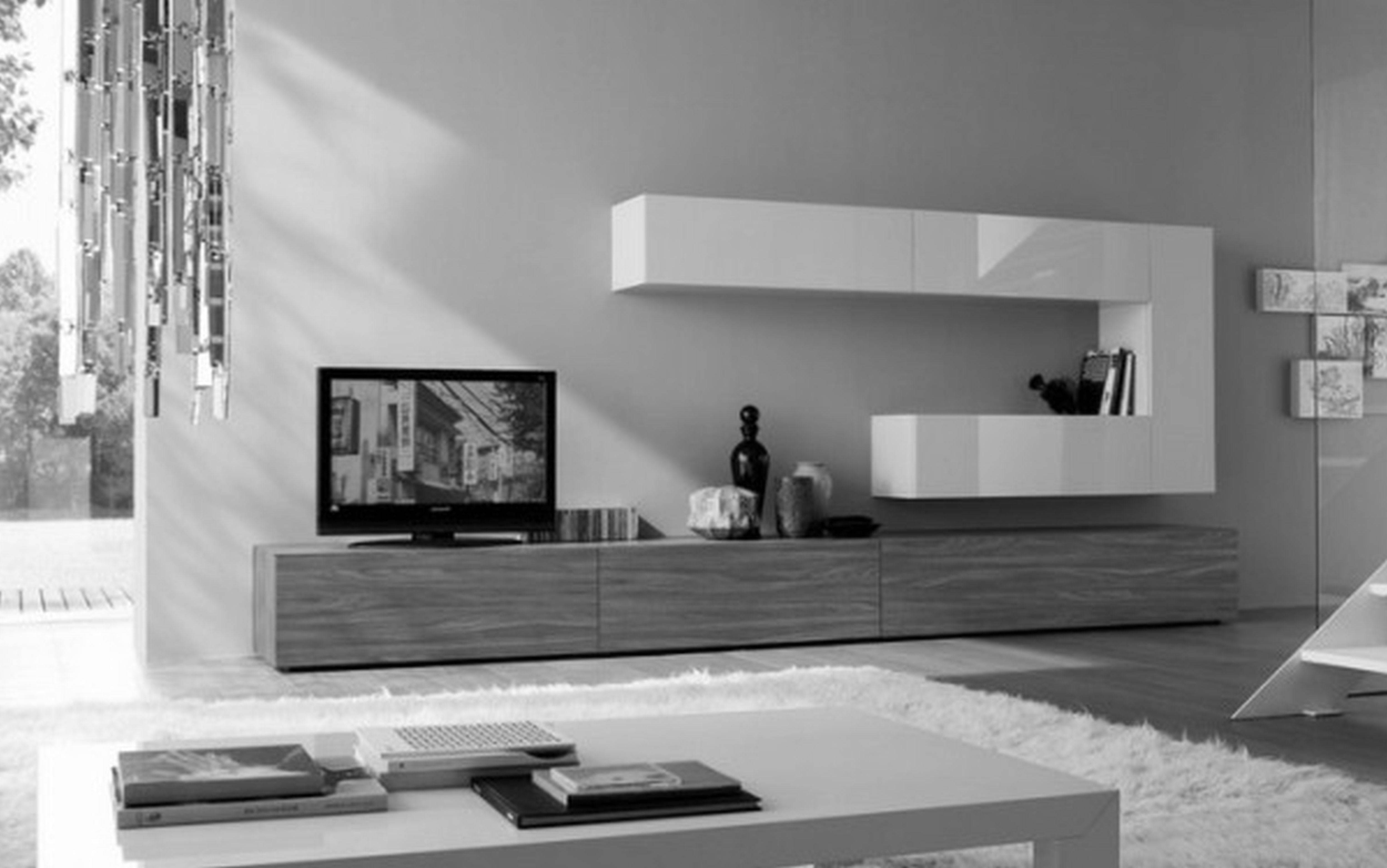 Tv Stand Ideas For Wall Mounted Tv Round White Ottoman Coffee With White Wall Mounted Tv Stands (View 13 of 15)