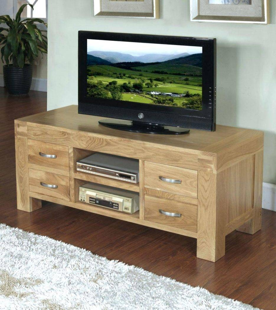 Tv Stand : Impressive Large Size Of Tv About Chunky Funky Solid with Chunky Oak Tv Unit (Image 14 of 15)