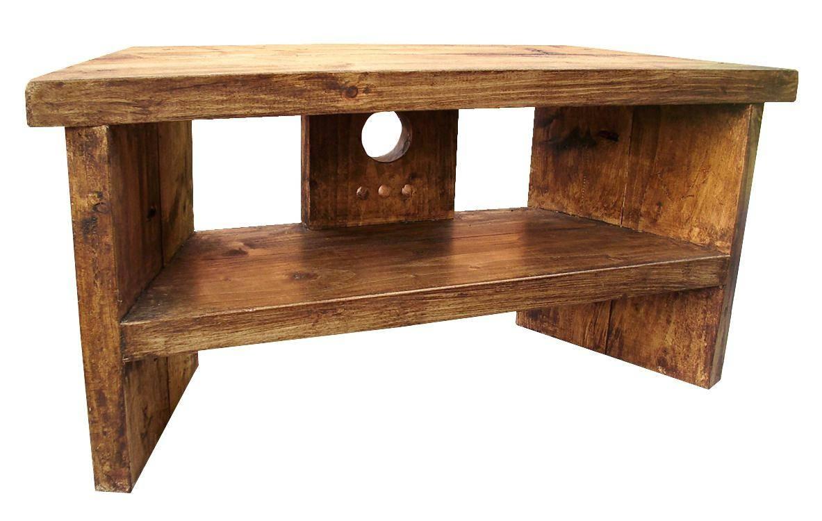 Tv Stand : Impressive Rustic Pine Corner Tv Stand Handmade within Rustic Corner Tv Stands (Image 15 of 15)