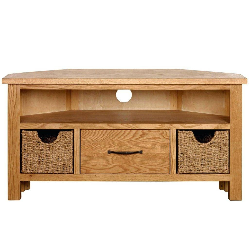 Tv Stand ~ Kuba Chunky Solid Oak Corner Tv Unit Torino Solid Oak with regard to Low Corner Tv Cabinets (Image 10 of 15)