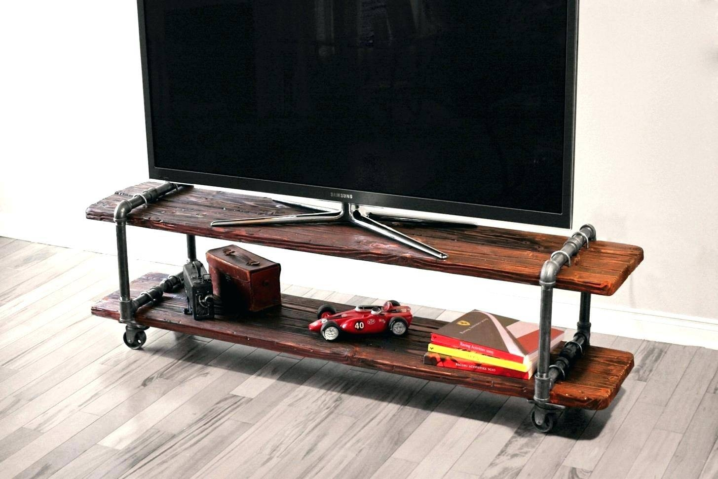 Tv Stand: Mesmerizing Industrial Corner Tv Stand Design. Tv Stand regarding Industrial Corner Tv Stands (Image 13 of 15)