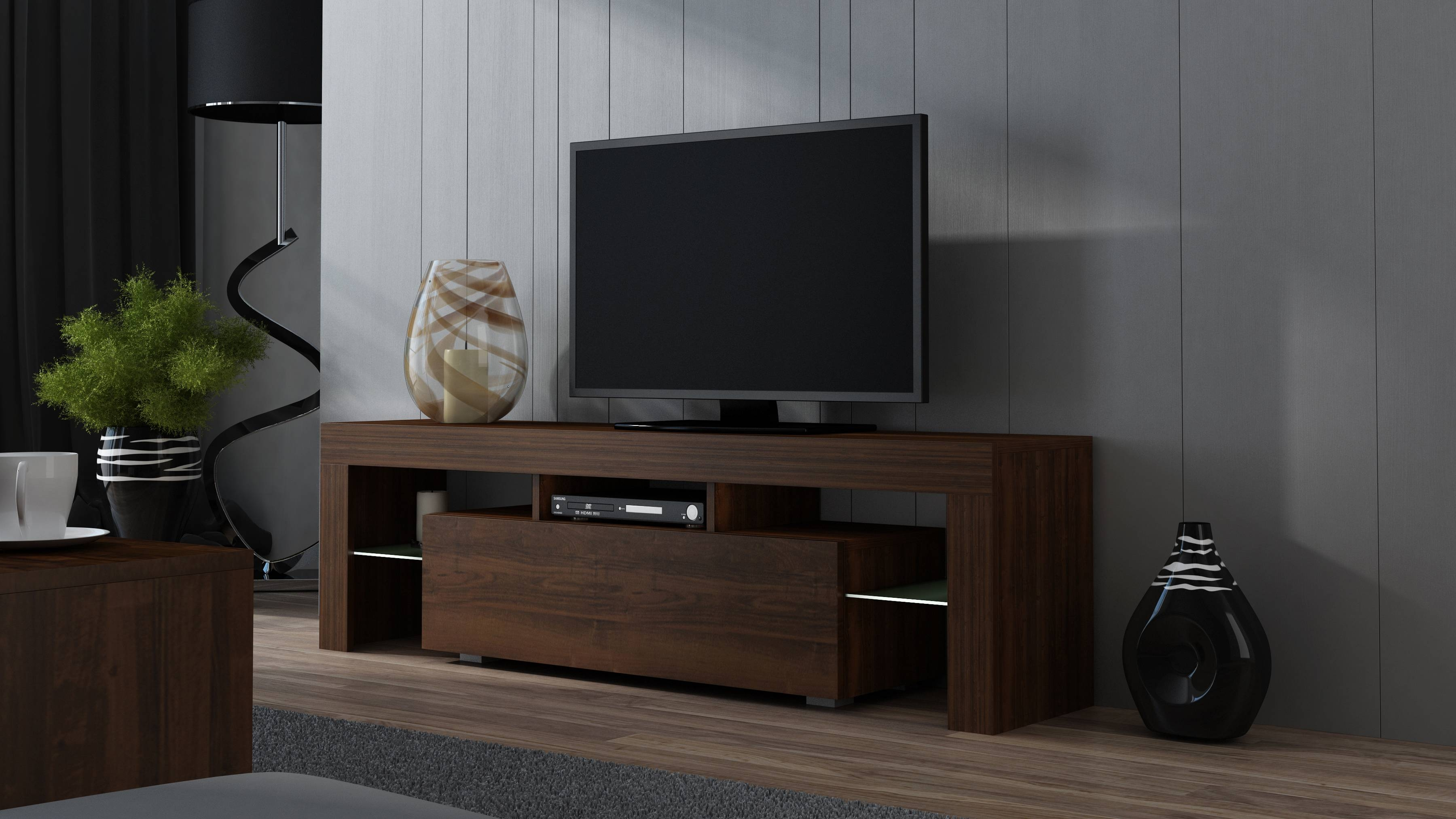 Tv Stand Milano Wenge 160 Mat 2 Colours To Choose! Pejot Meble with Wenge Tv Cabinets (Image 12 of 15)