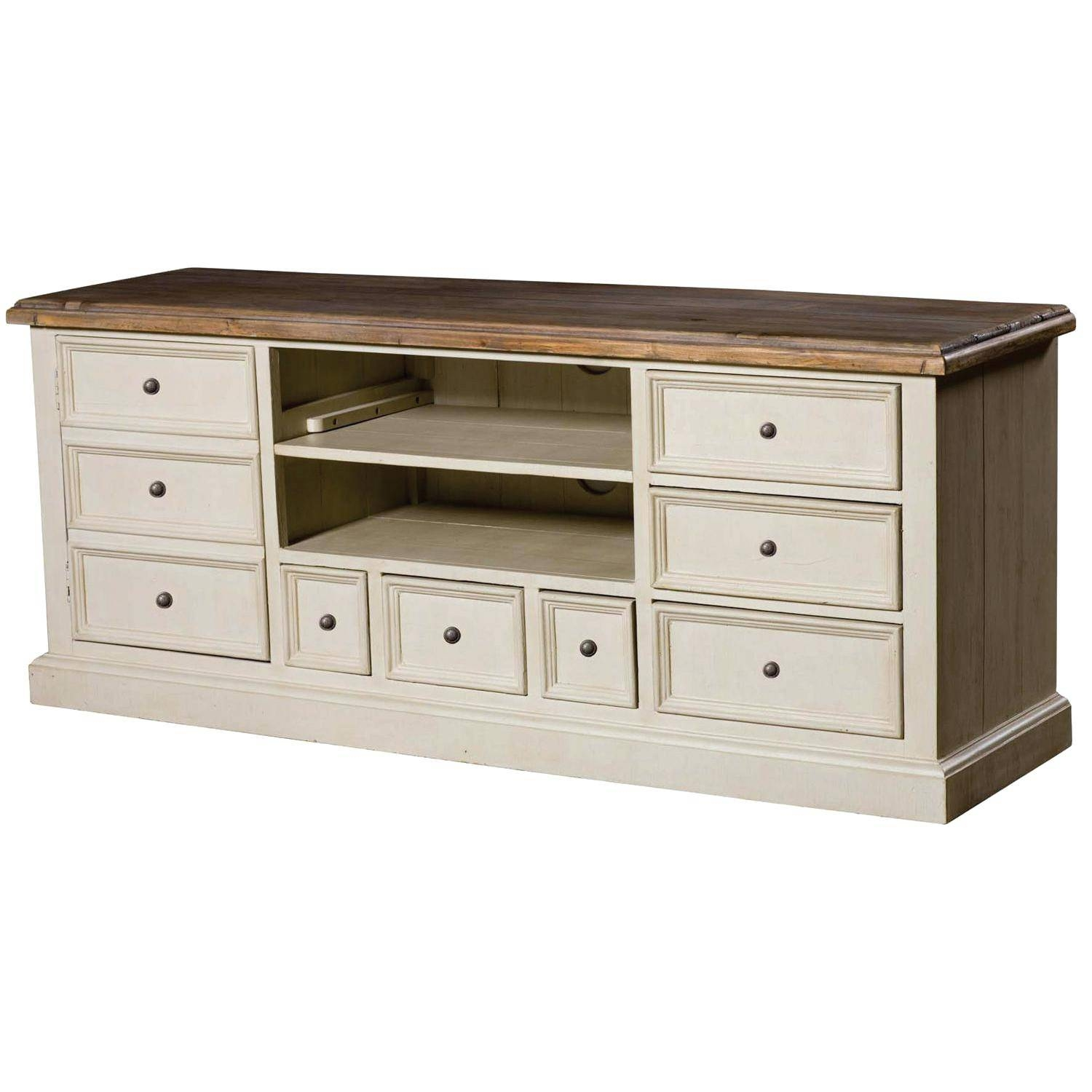 Tv Stand : Nexera Allure 60 Inch Tv Stand 2 Open Shelves 2 Drawers Pertaining To Tv Stands With Drawers And Shelves (View 15 of 15)