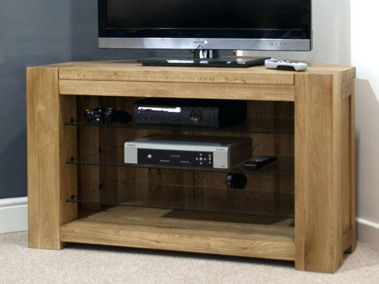 Tv Stand : Oak Corner Tv Stands For Flat Screens Tv Cabinets Oak within Chunky Tv Cabinets (Image 15 of 15)