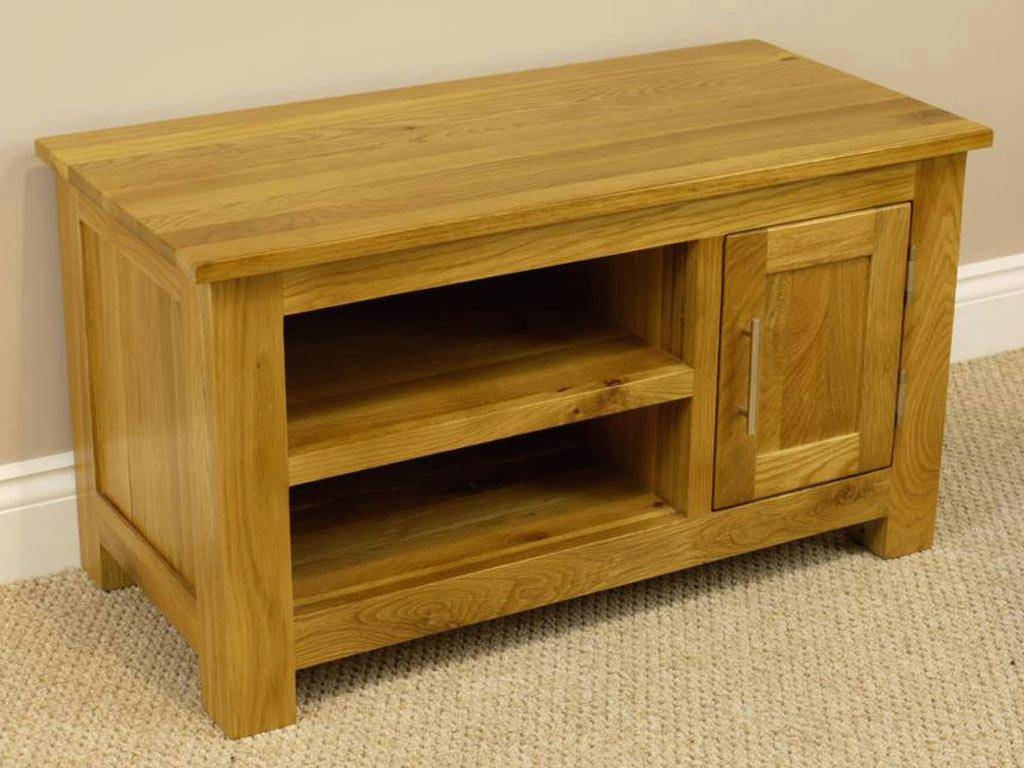 Tv Stand : Oakland Chunky Oak Small Tv Unit Plasma Tv Stand Small inside Contemporary Oak Tv Cabinets (Image 12 of 15)