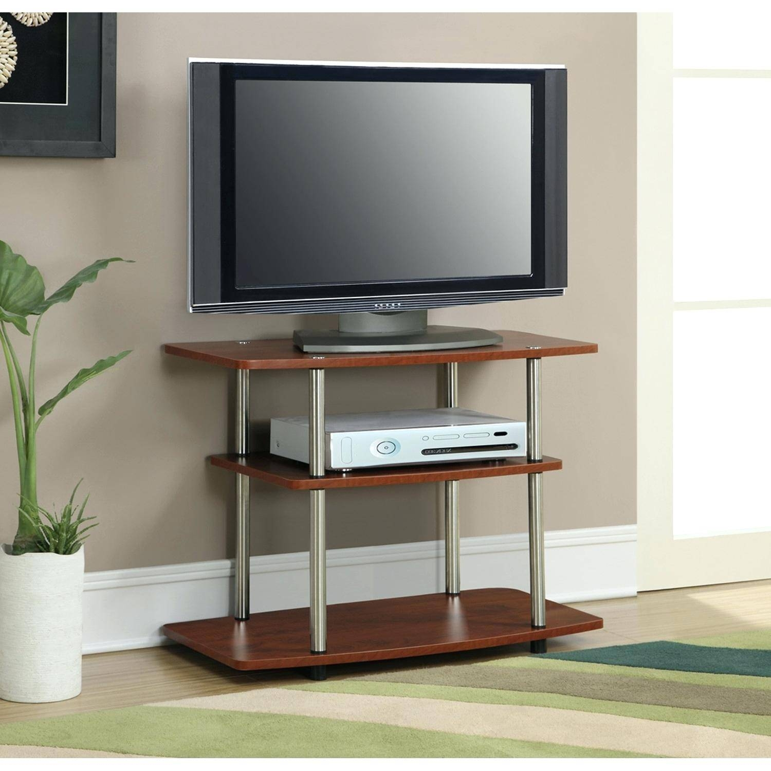 Tv Stand : Outstanding 149 Chrome Easel Tv Stand Beautiful Chrome Pertaining To Trendy Tv Stands (View 6 of 15)