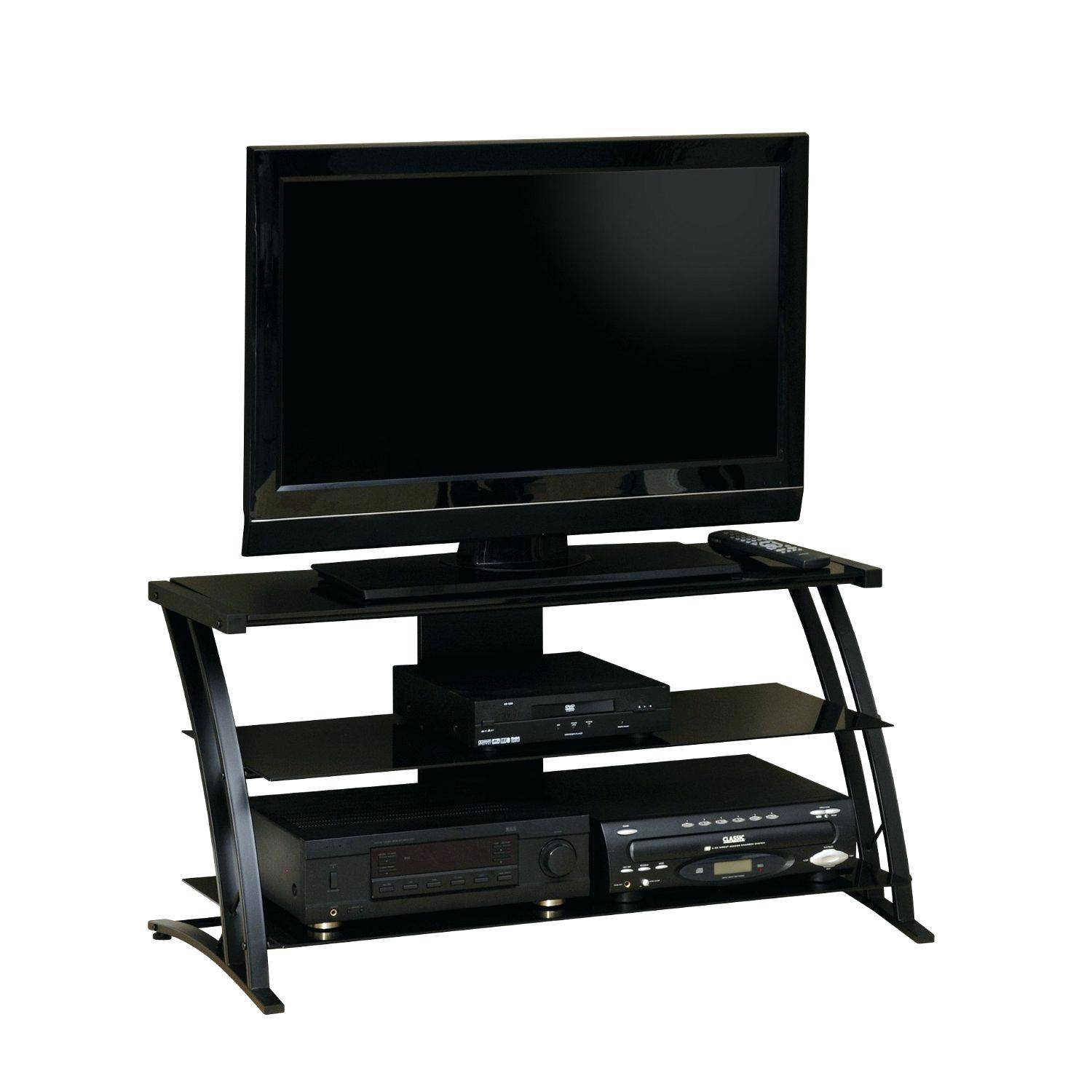 Tv Stand : Outstanding Small White Tv Stand With Mount And 2 Glass Throughout Smoked Glass Tv Stands (View 11 of 15)