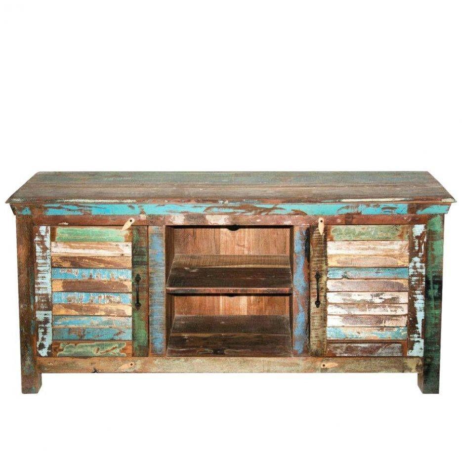 Tv Stand : Rustic Reclaimed Pallet Wood Style Entertainment Center for Recycled Wood Tv Stands (Image 13 of 15)