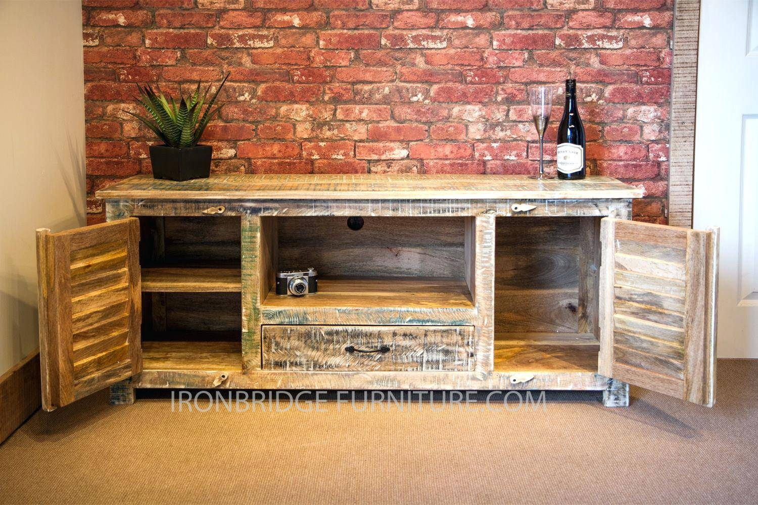 Delightful Tv Stand : Si518 Vintage Style Long Tv Cabinet Pastel Colours 113 With  Regard To Vintage