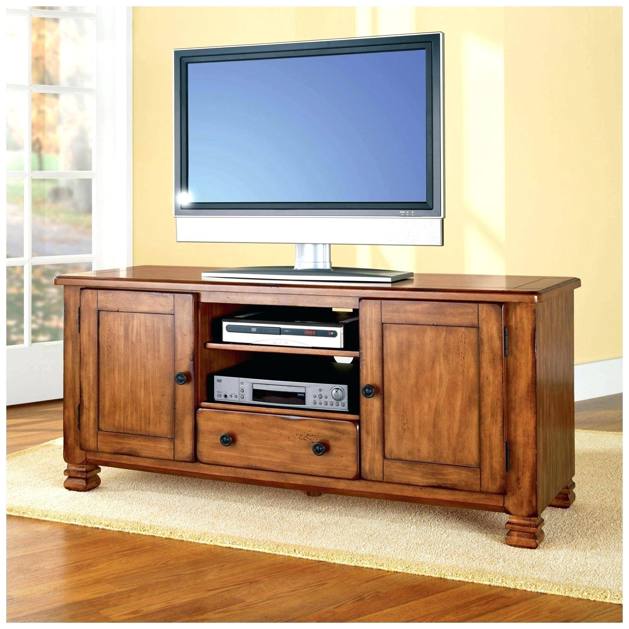 Tv Stand : Simple Antique Wooden Tv Stand For Living Room inside Cherry Wood Tv Cabinets (Image 14 of 15)